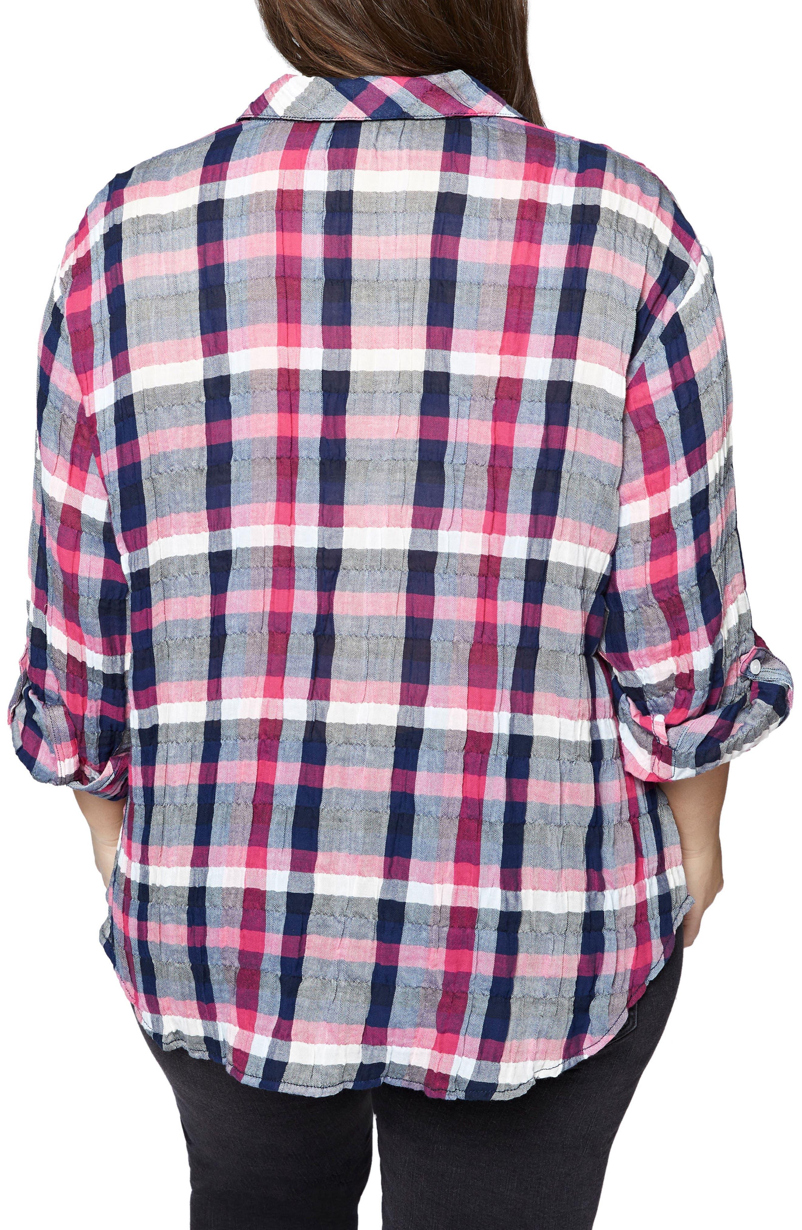 Steady Boyfriend Check Shirt,                             Alternate thumbnail 2, color,                             494