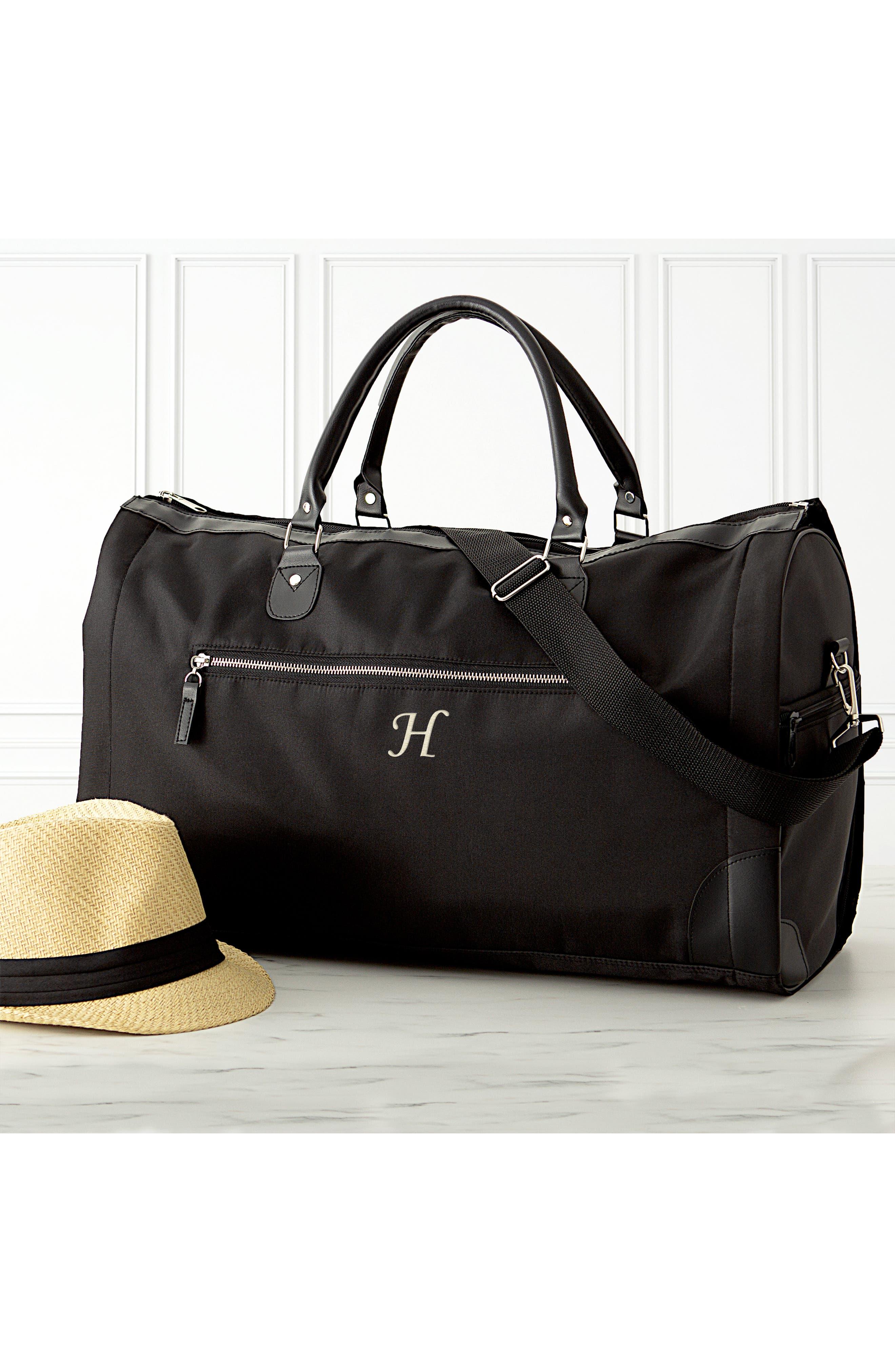 Monogram Duffel/Garment Bag,                             Alternate thumbnail 11, color,                             BLACK