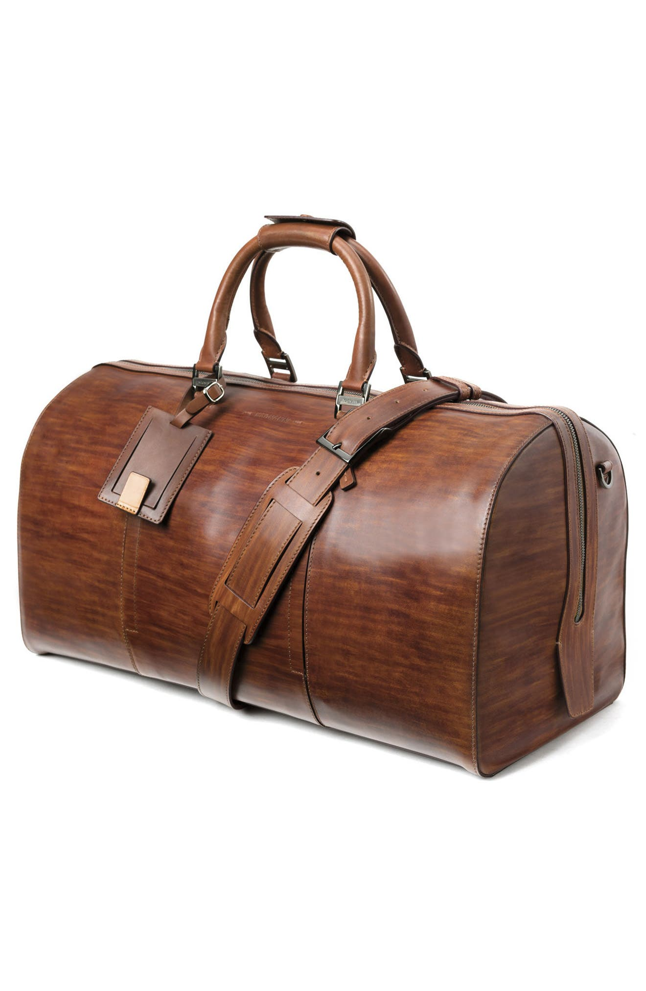 Traveler Leather Duffel Bag,                             Alternate thumbnail 7, color,