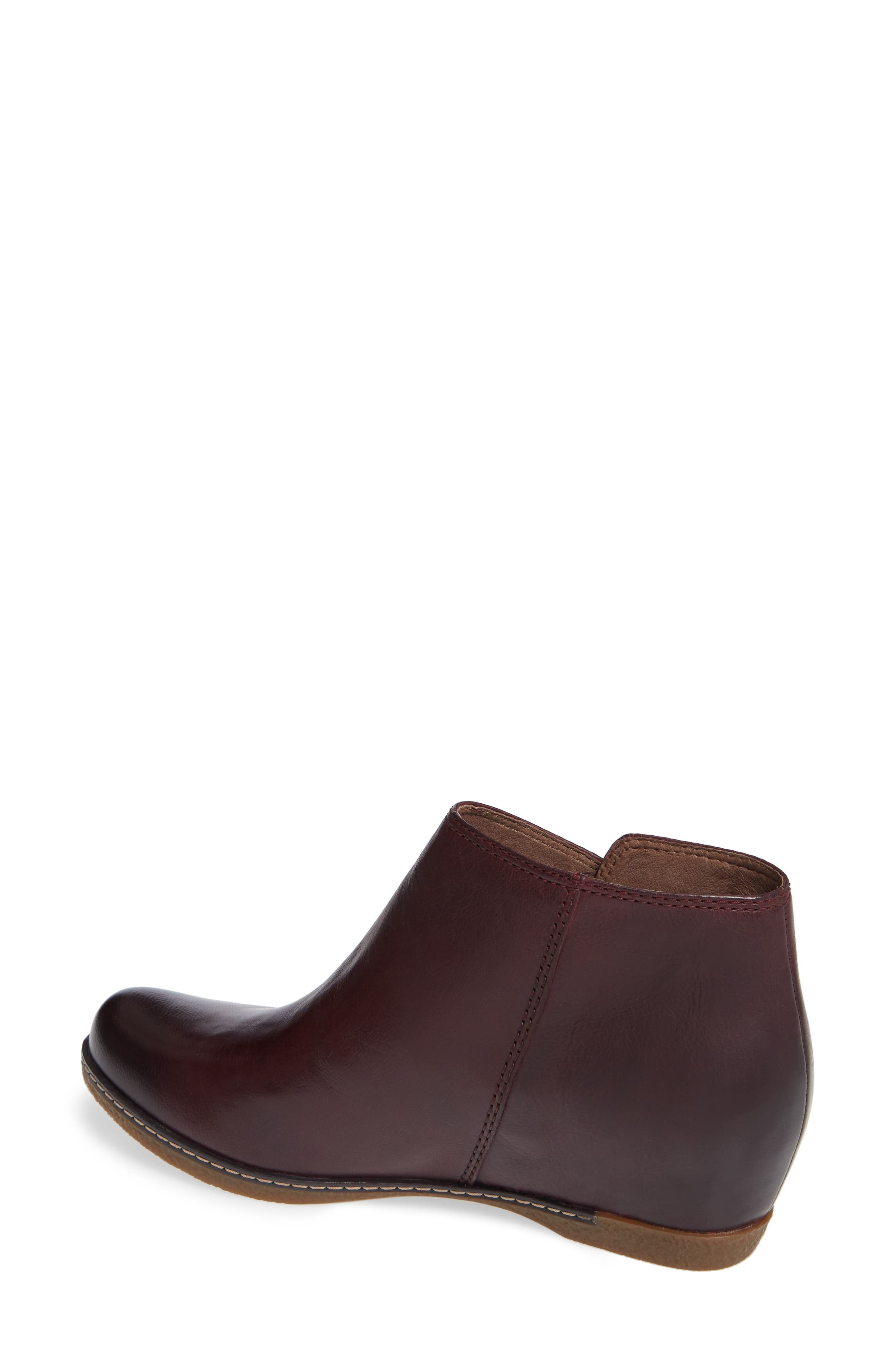 Leyla Bootie,                             Alternate thumbnail 2, color,                             WINE BURNISHED LEATHER