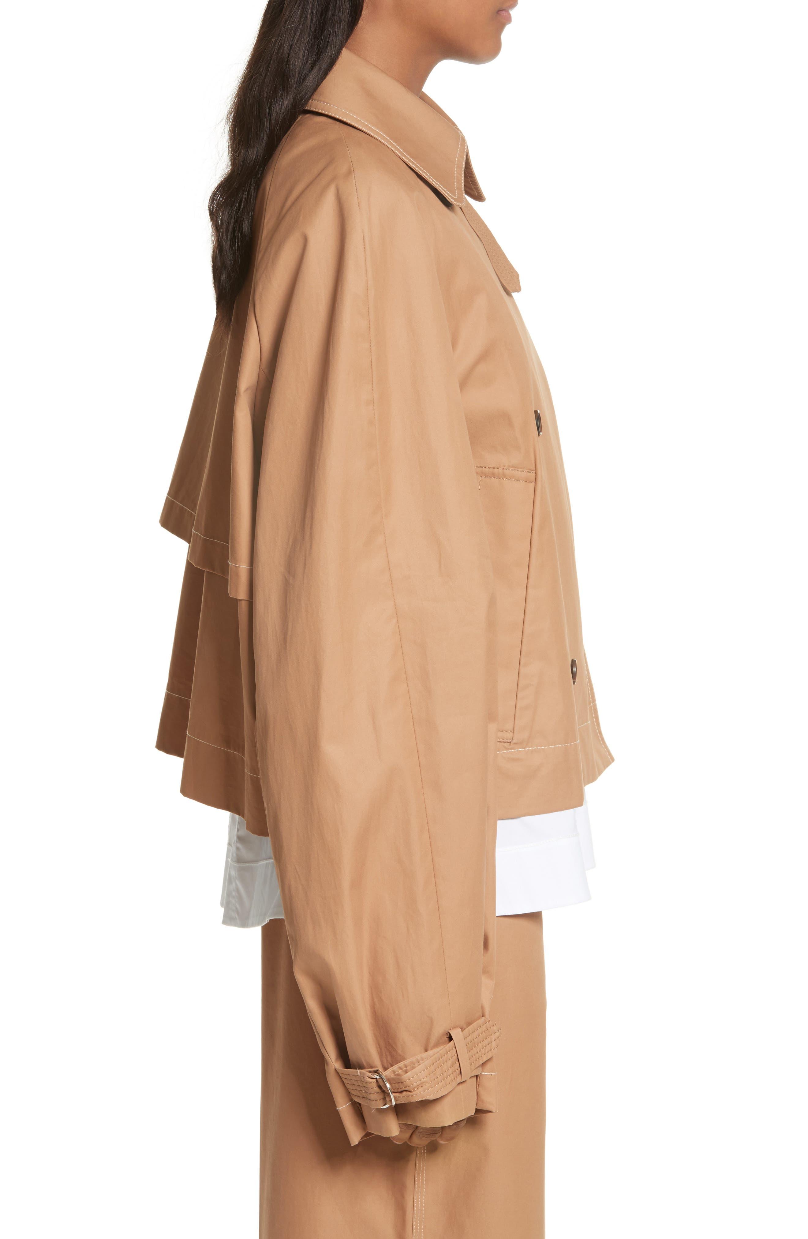 Eleta Short Trench Coat,                             Alternate thumbnail 3, color,                             206