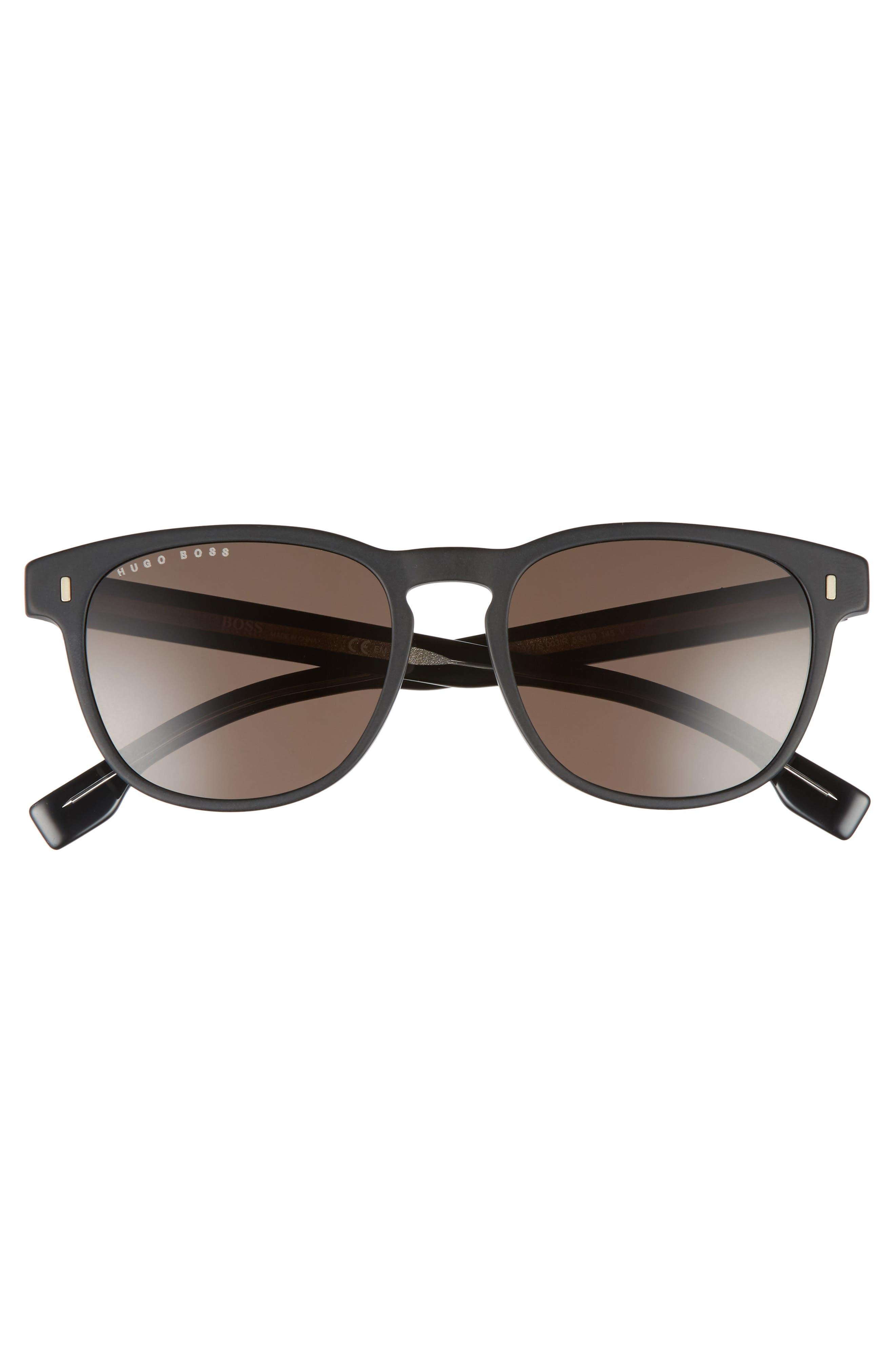 B0926S 49mm Polarized Sunglasses,                             Alternate thumbnail 2, color,                             MATTE BLACK/ GRAY BLUE