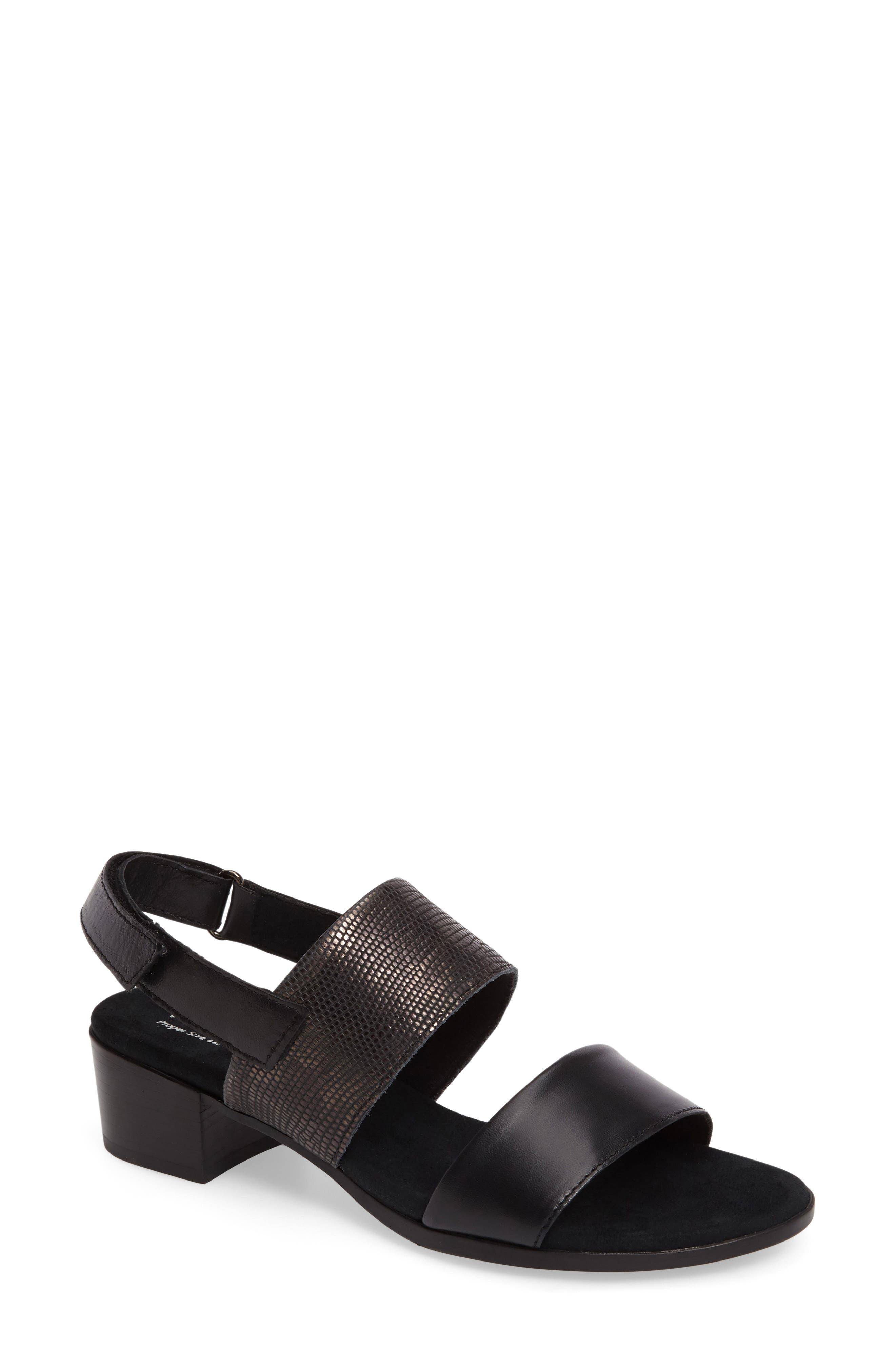 Kristal Sandal,                         Main,                         color, BLACK LIZARD PRINT LEATHER