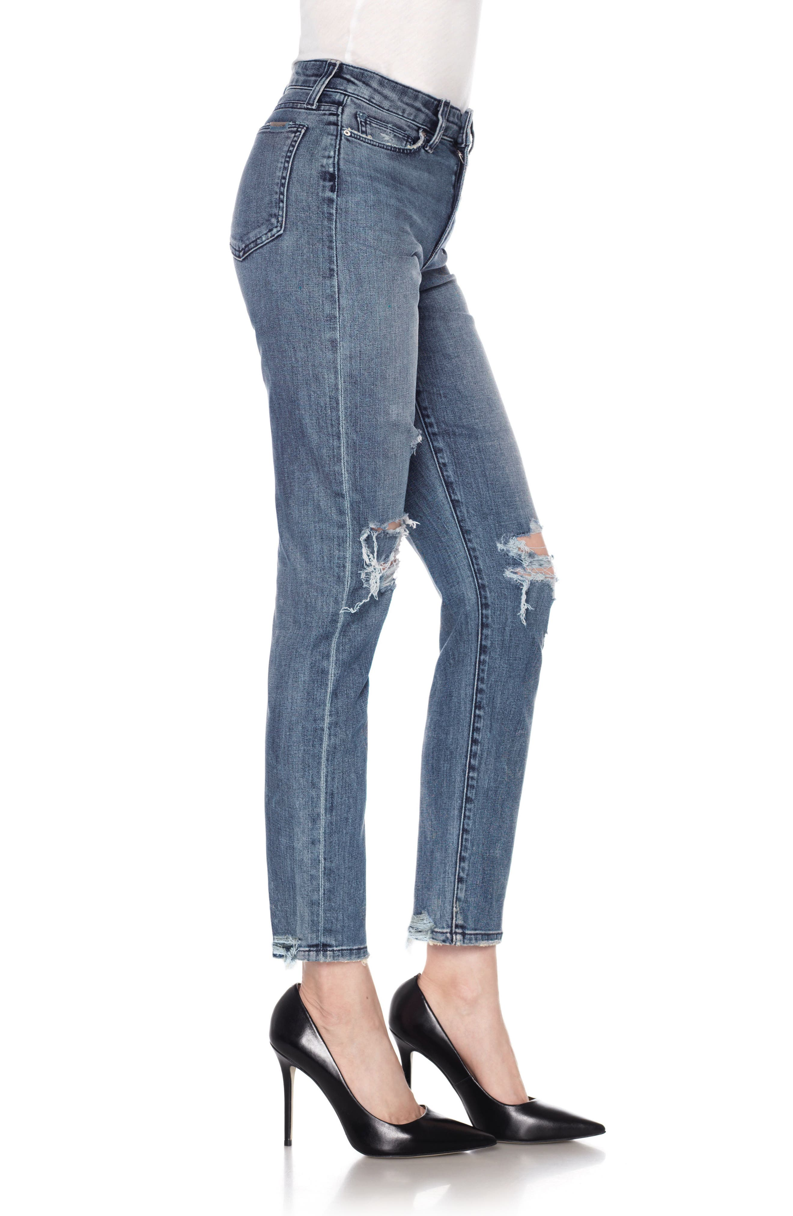 Kass Ankle Skinny Jeans,                             Alternate thumbnail 3, color,                             415