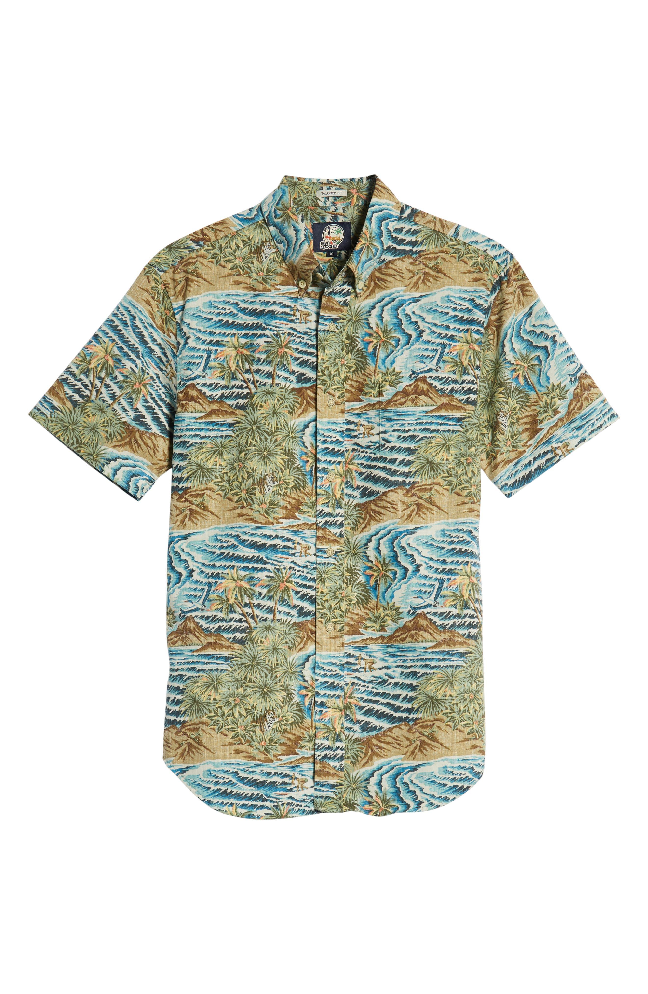 Sumatra Slide Tailored Fit Sport Shirt,                             Alternate thumbnail 5, color,                             430