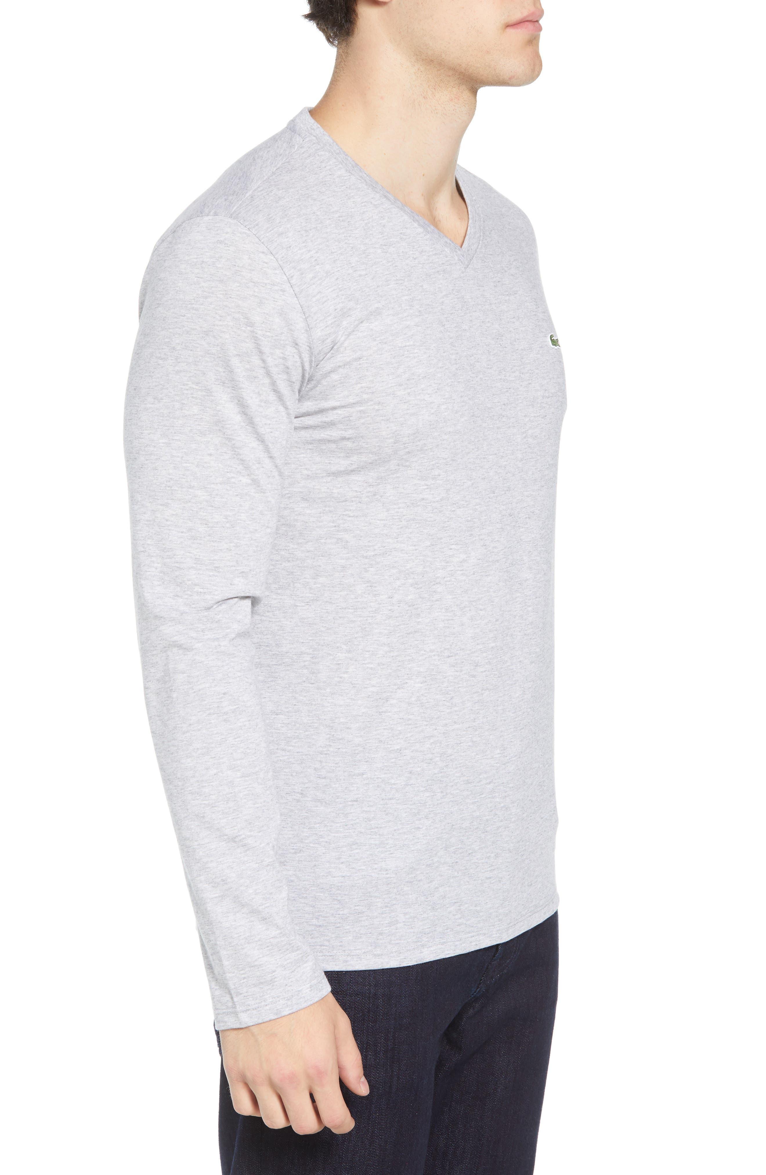 Long Sleeve T-Shirt,                             Alternate thumbnail 3, color,                             SILVER CHINE