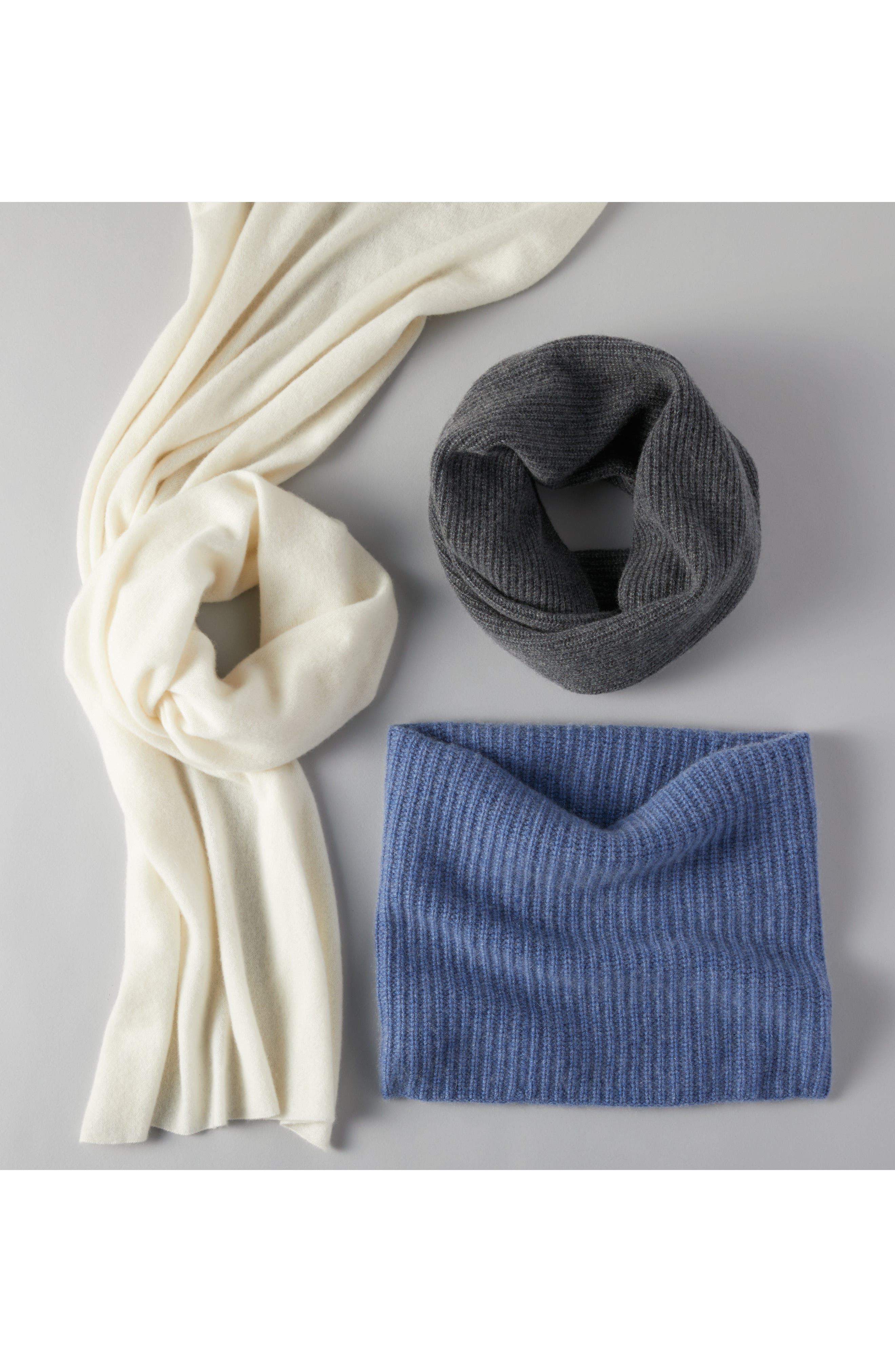 Cashmere Infinity Scarf,                             Alternate thumbnail 5, color,                             001