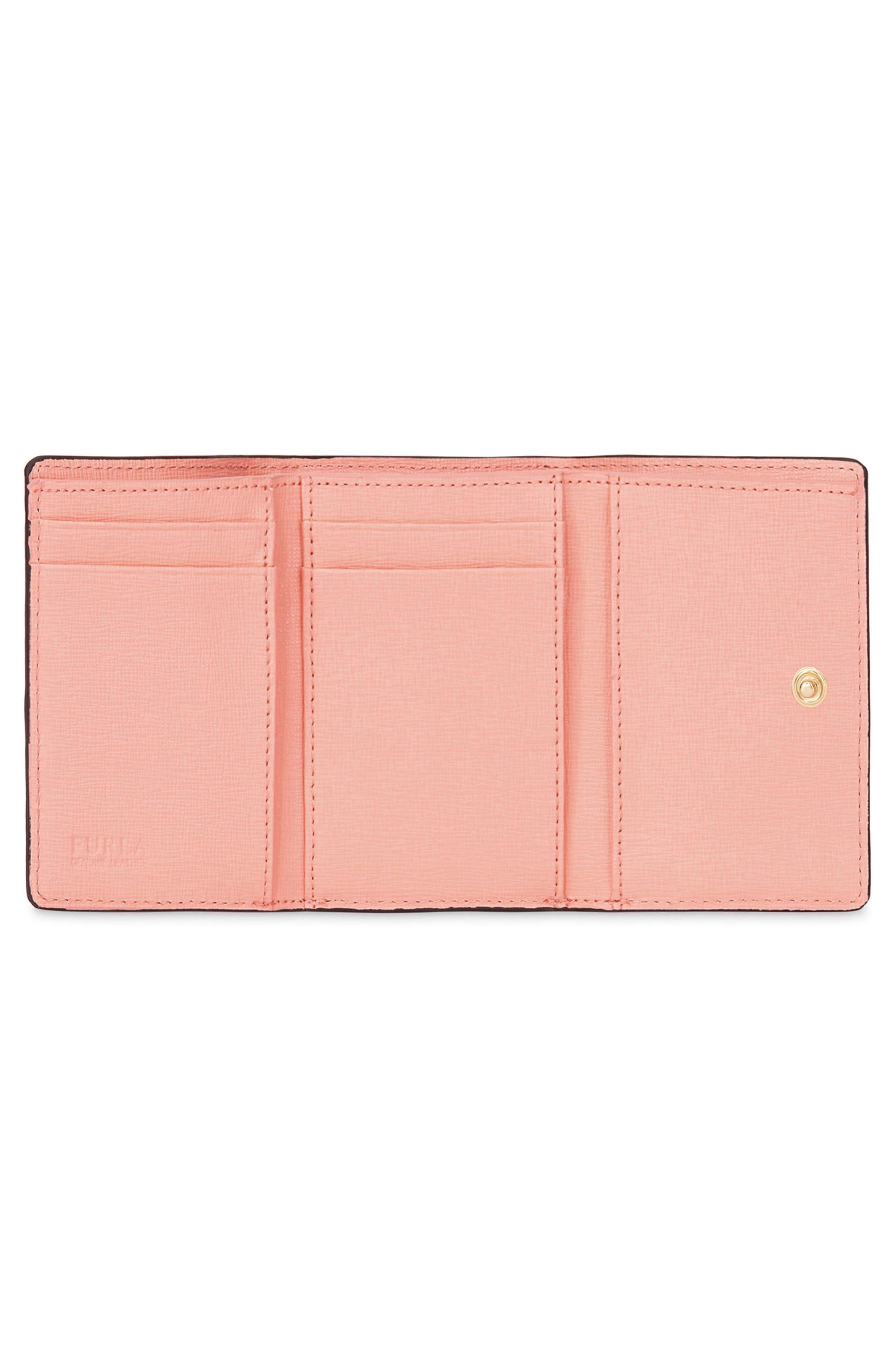 Babylon Saffiano Leather Trifold Wallet,                             Alternate thumbnail 6, color,