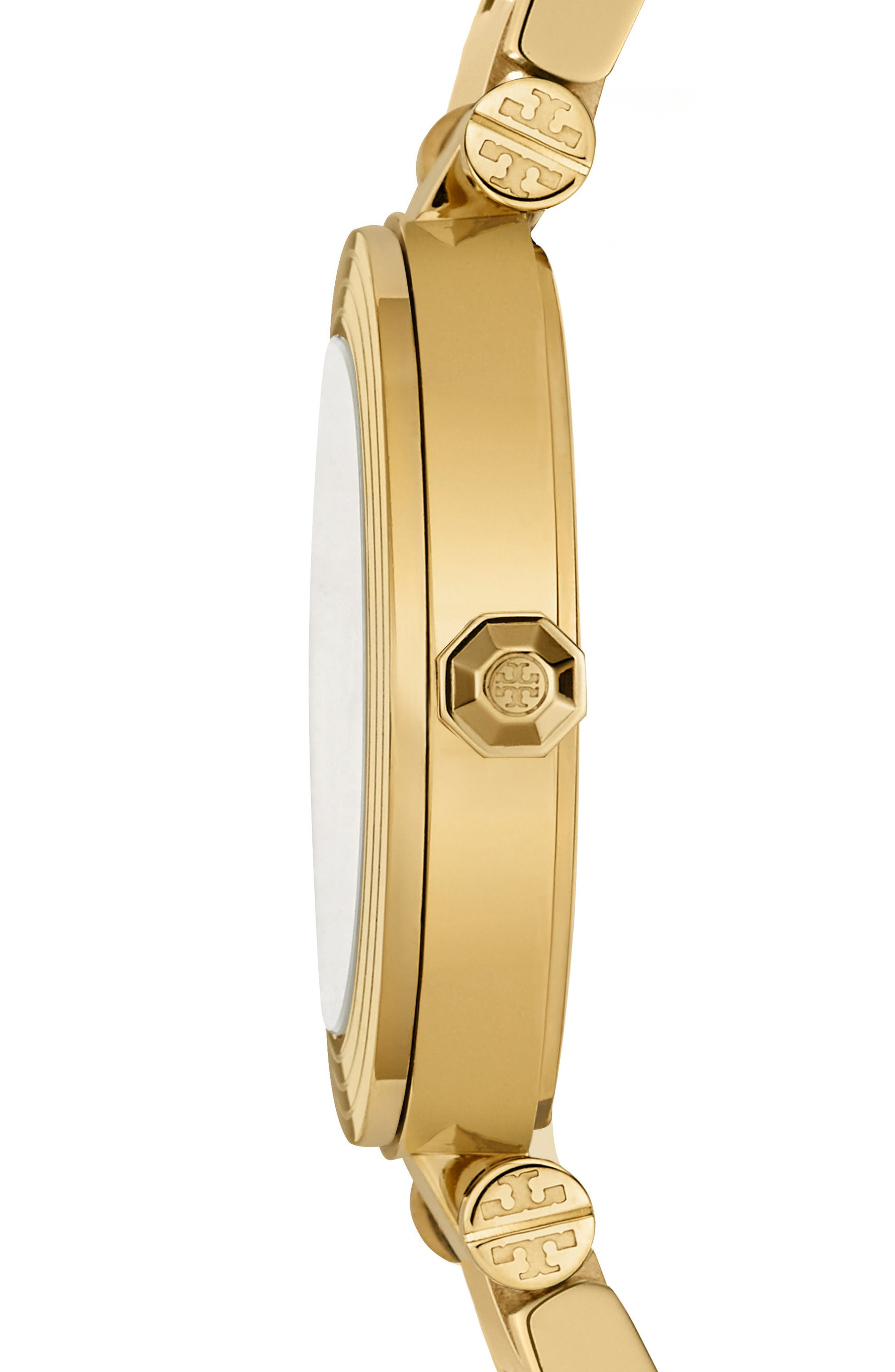 Classic-T Bracelet Watch, 36mm,                             Alternate thumbnail 2, color,                             GOLD/ NAVY/ GOLD