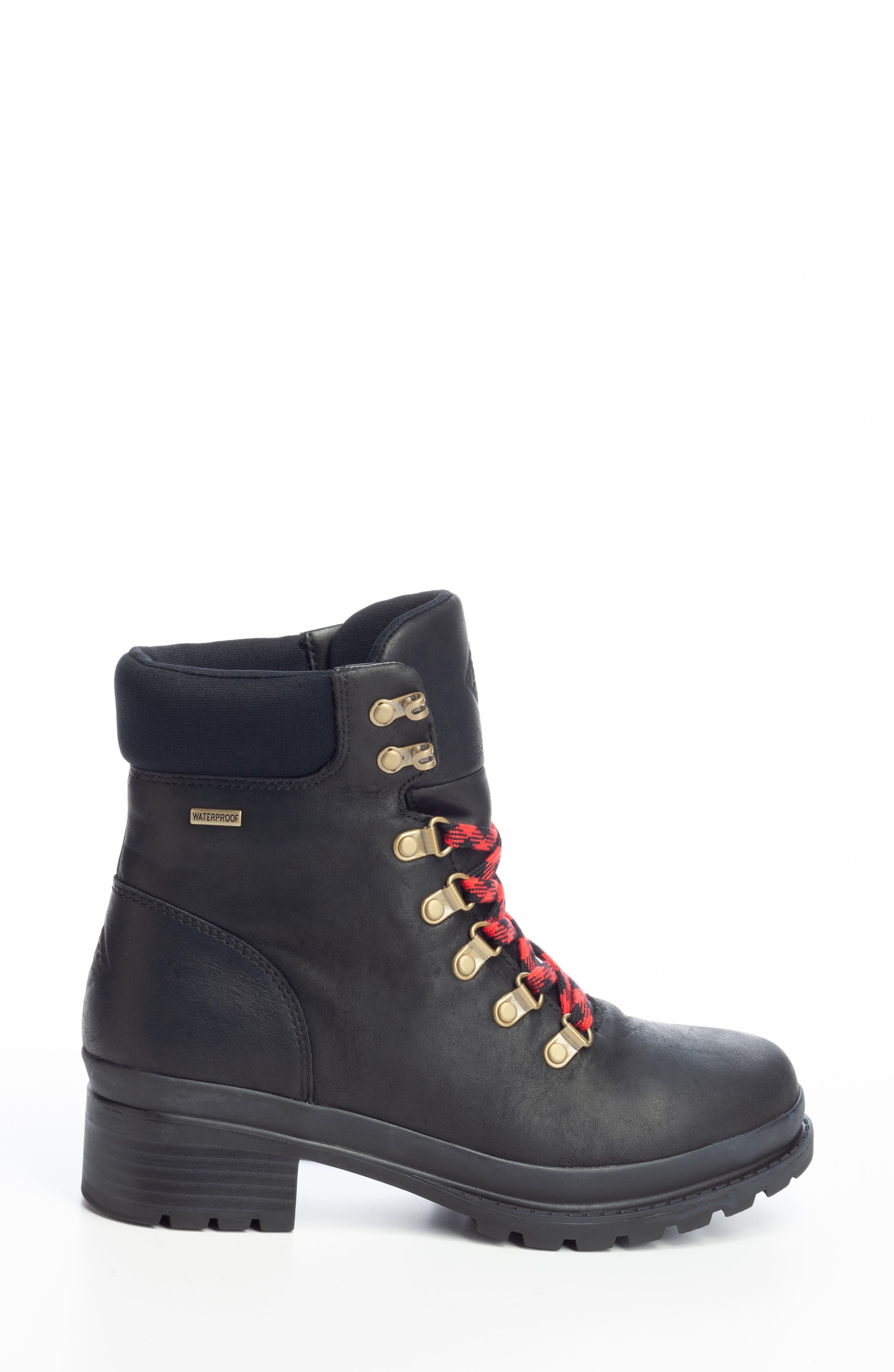 Liberty Alpine Waterproof Hiker Boot,                             Alternate thumbnail 3, color,                             BLACK LEATHER