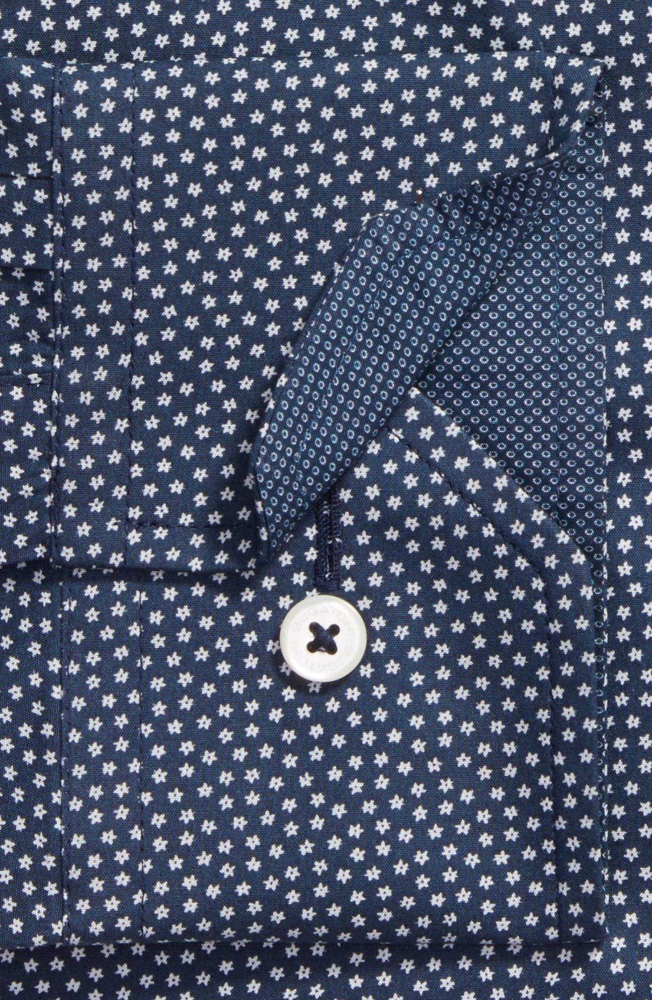 Trim Fit Print Dress Shirt,                             Alternate thumbnail 2, color,                             001