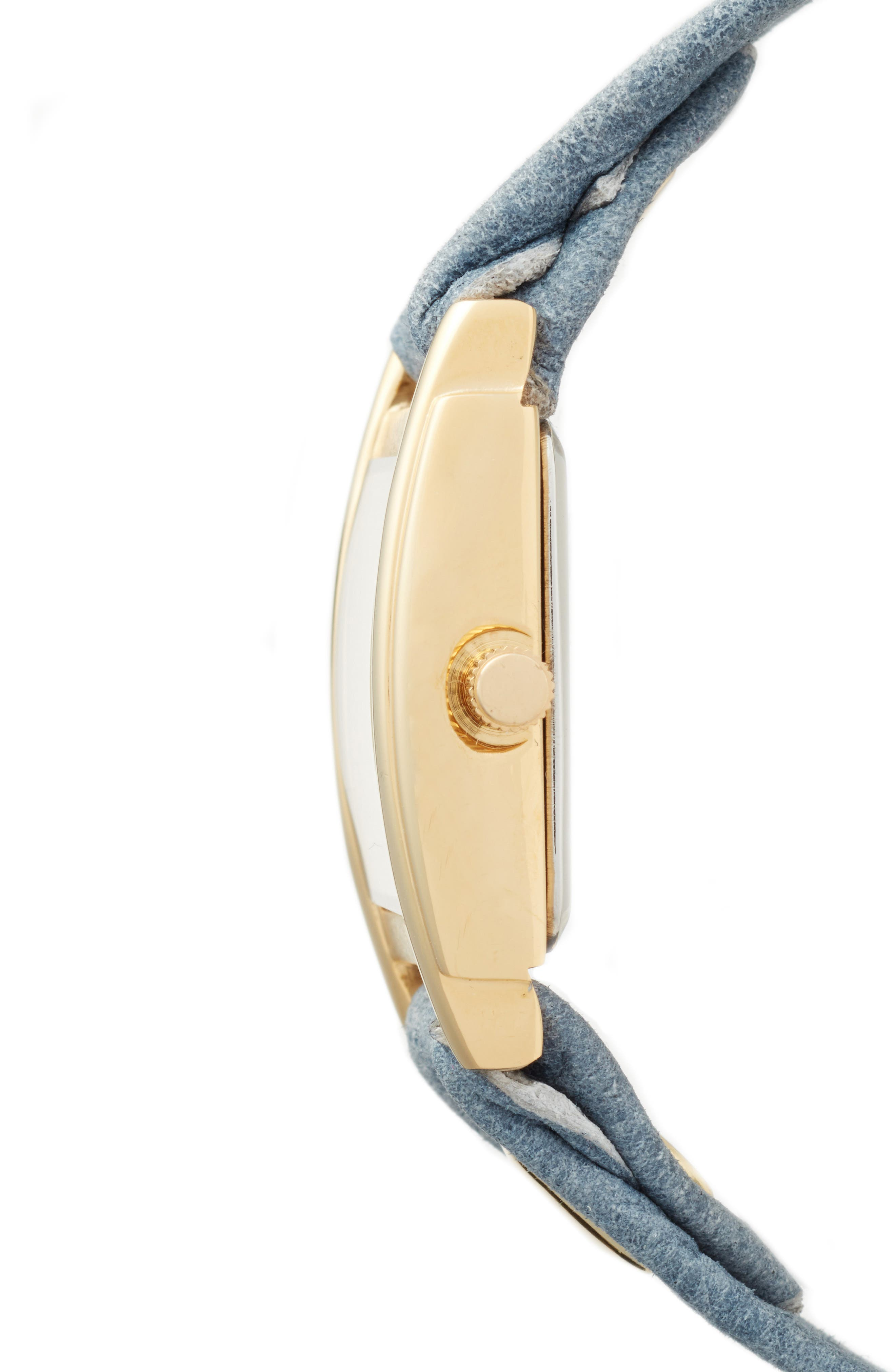 Leather Wrap Strap Watch, 22mm,                             Alternate thumbnail 3, color,                             400
