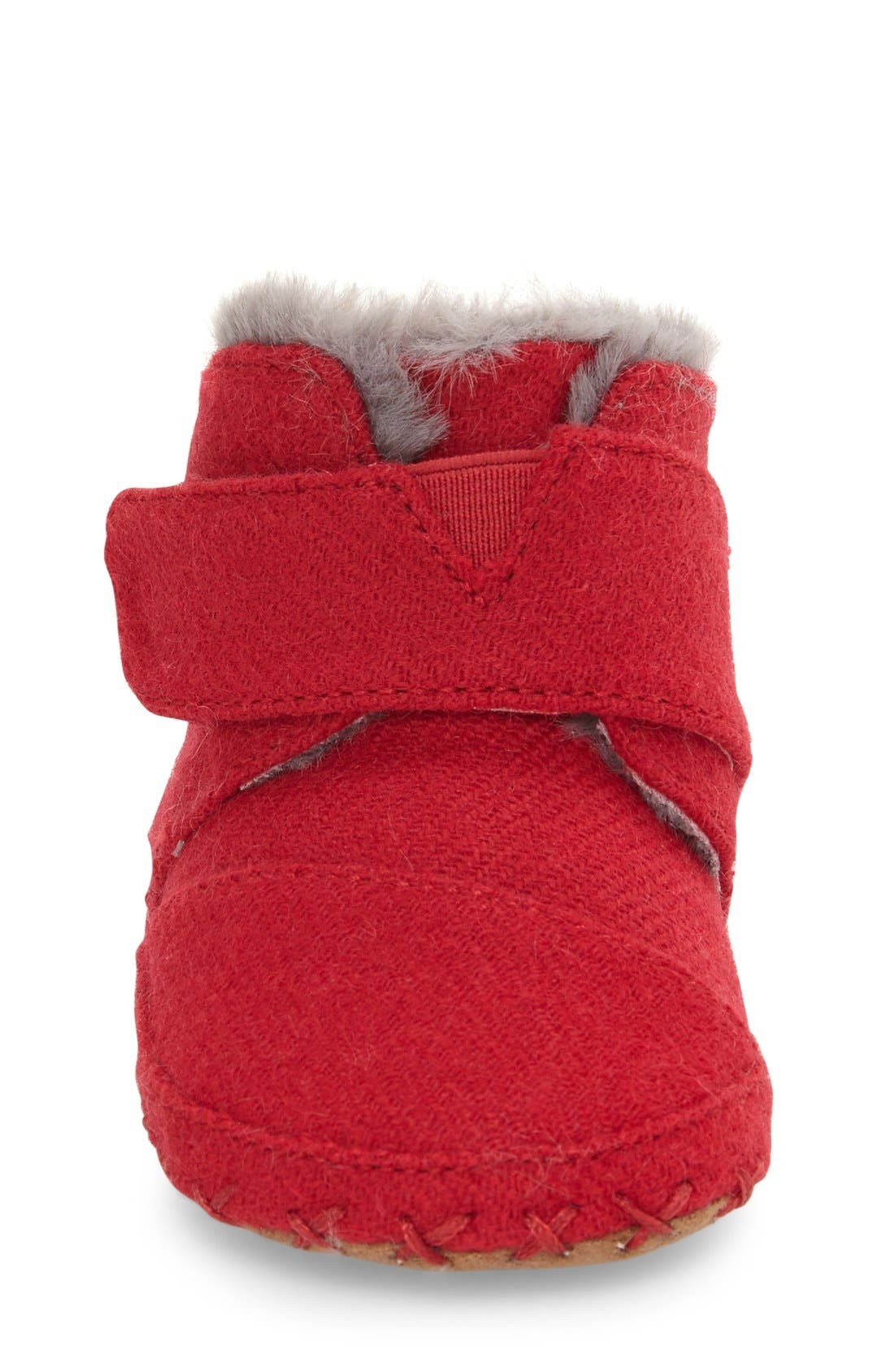 Cuna Layette Crib Shoe,                             Alternate thumbnail 2, color,                             RED