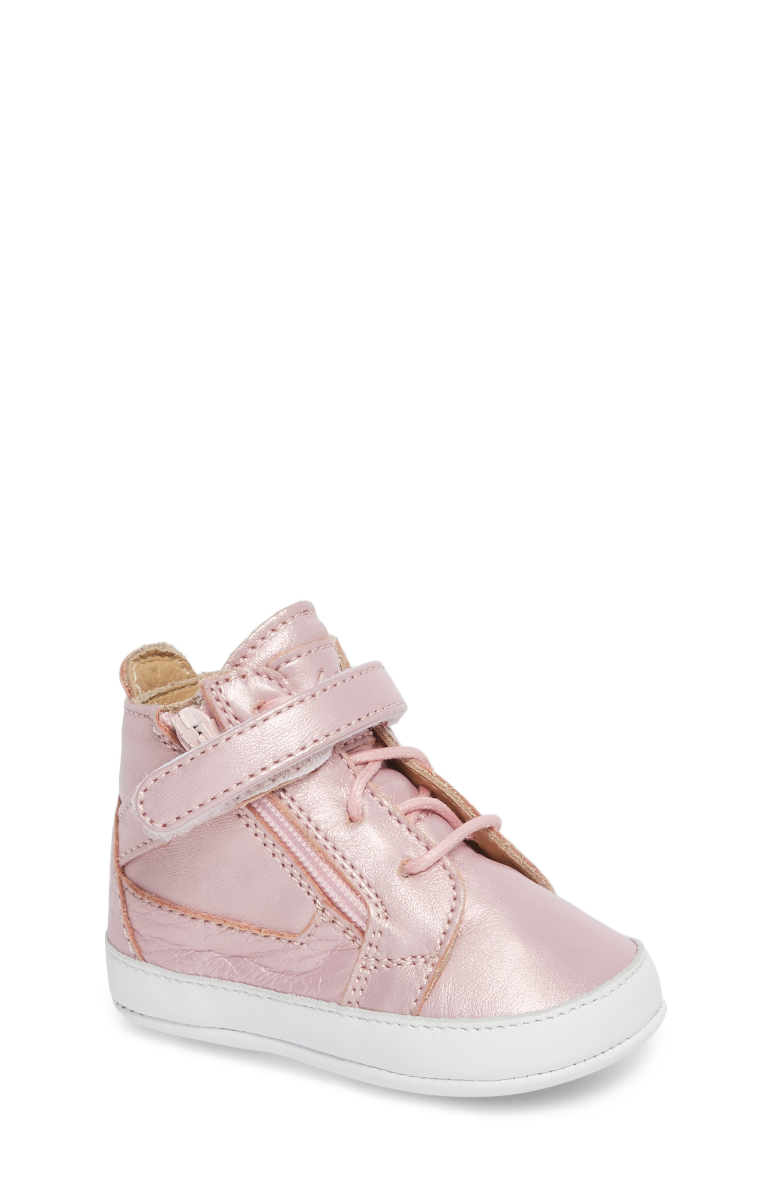 Culla London High Top Crib Sneaker,                             Main thumbnail 3, color,