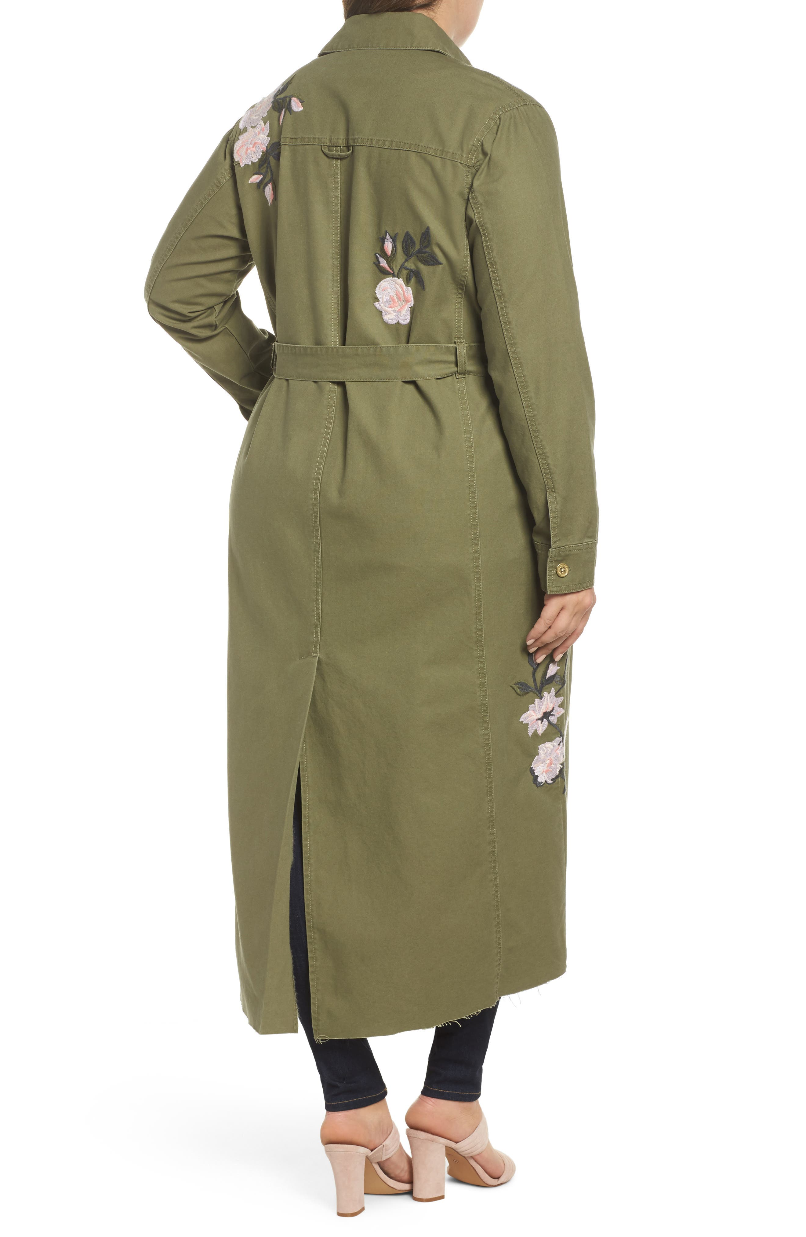 Embroidered Army Duster,                             Alternate thumbnail 2, color,                             ARMY