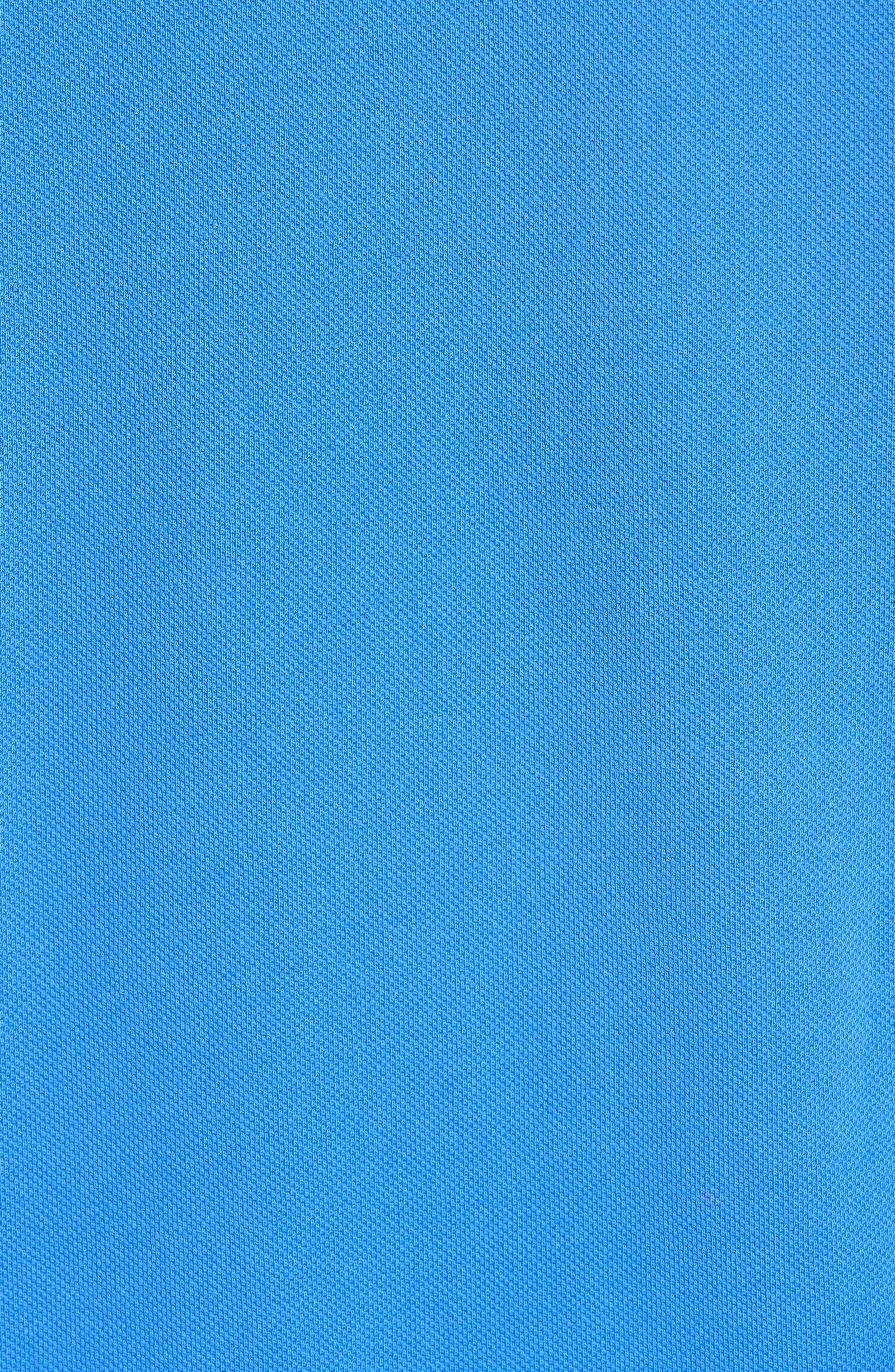 Johnny Collar Piqué Polo,                             Alternate thumbnail 5, color,                             BLUE