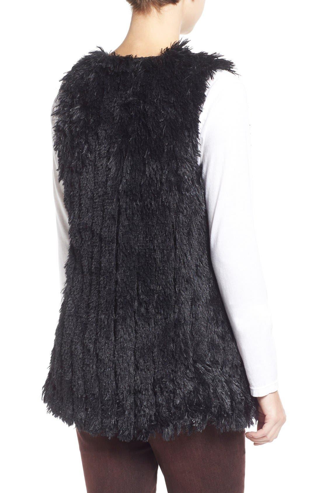 Faux Fur Vest,                             Alternate thumbnail 5, color,                             001