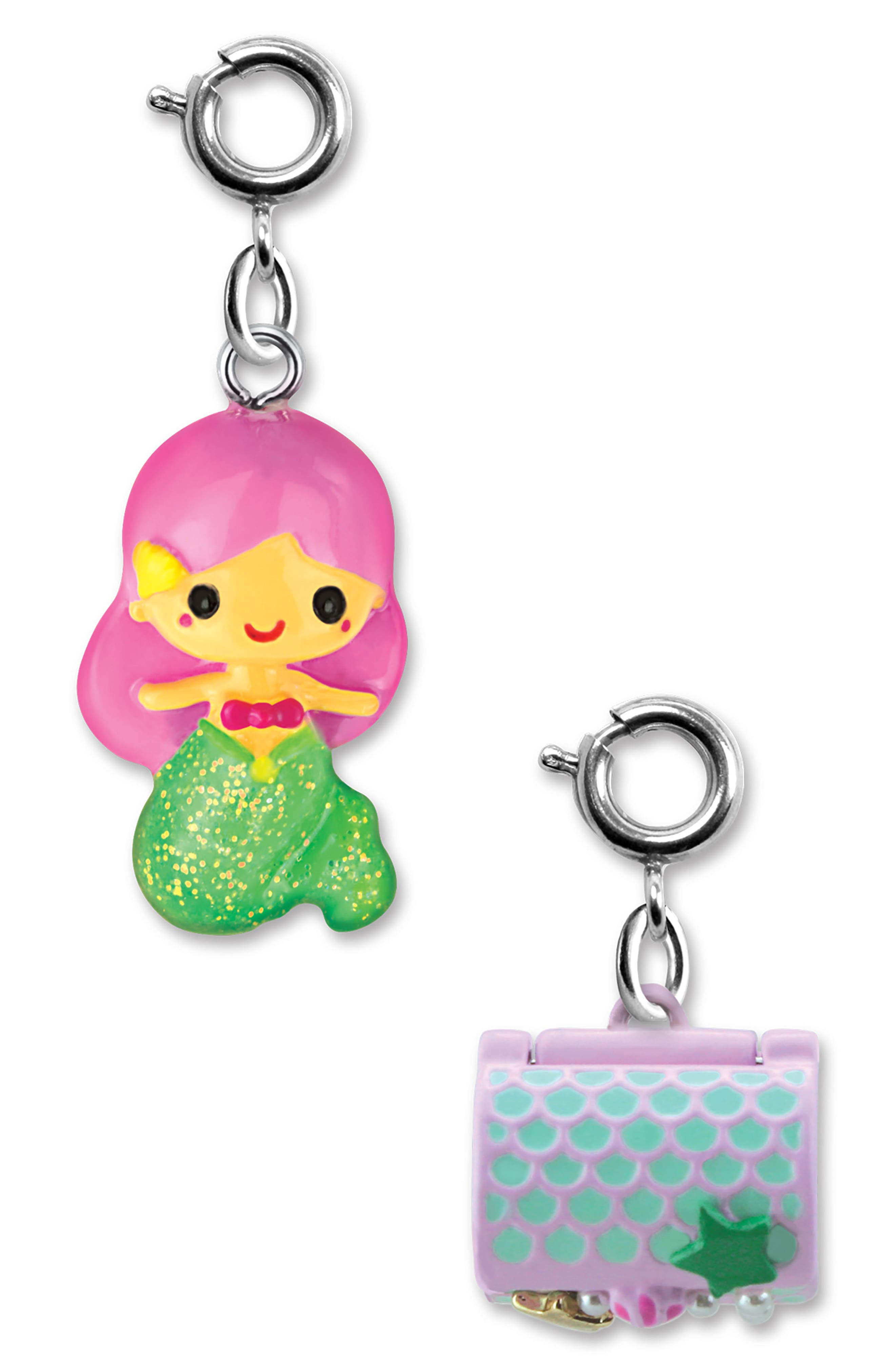 CHARM IT!<sup>®</sup> 2-Pack Mermaid & Treasure Chest Charms,                             Alternate thumbnail 2, color,                             MULTI