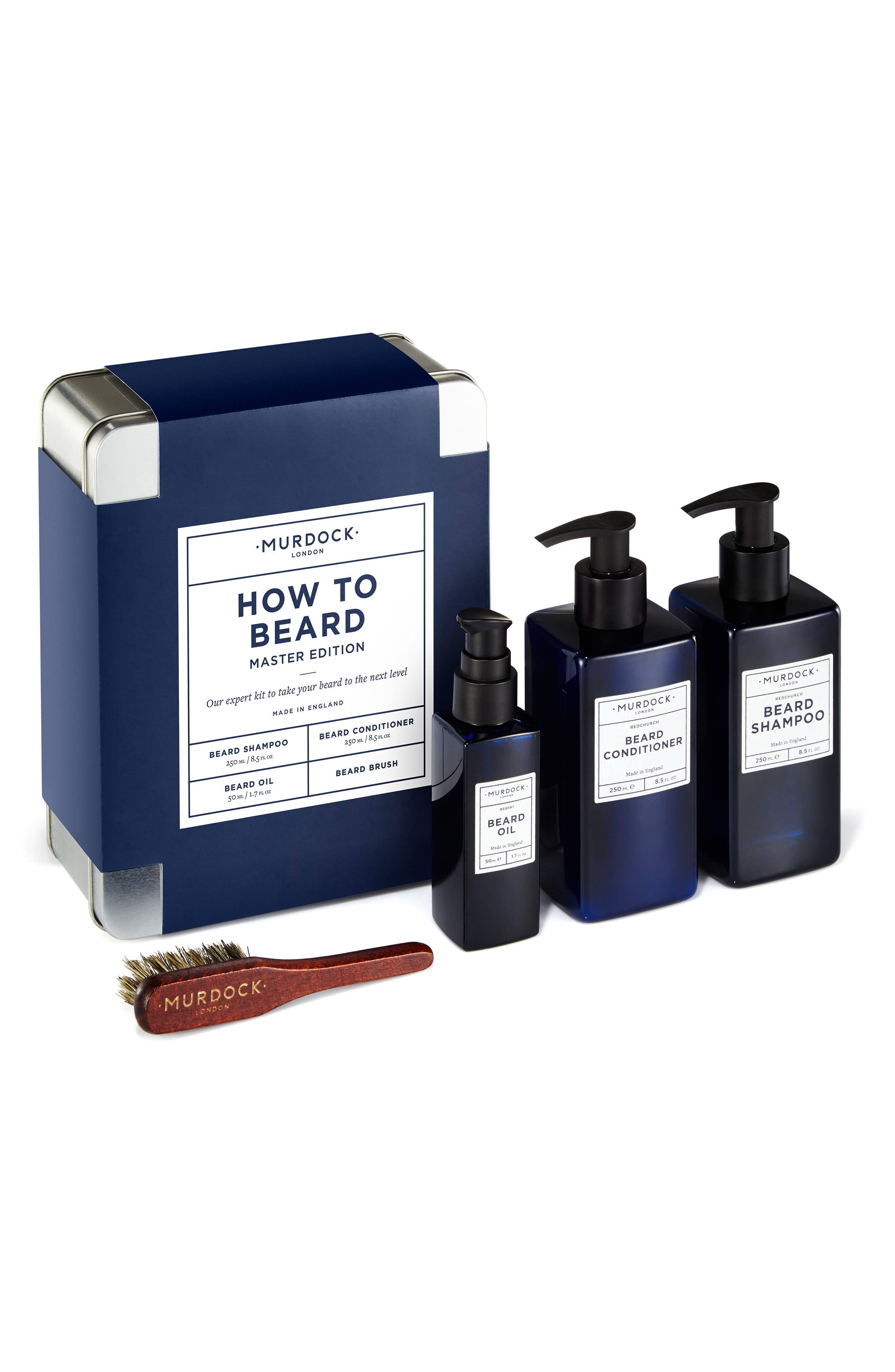 How to Beard Master Edition Kit,                             Main thumbnail 1, color,                             000