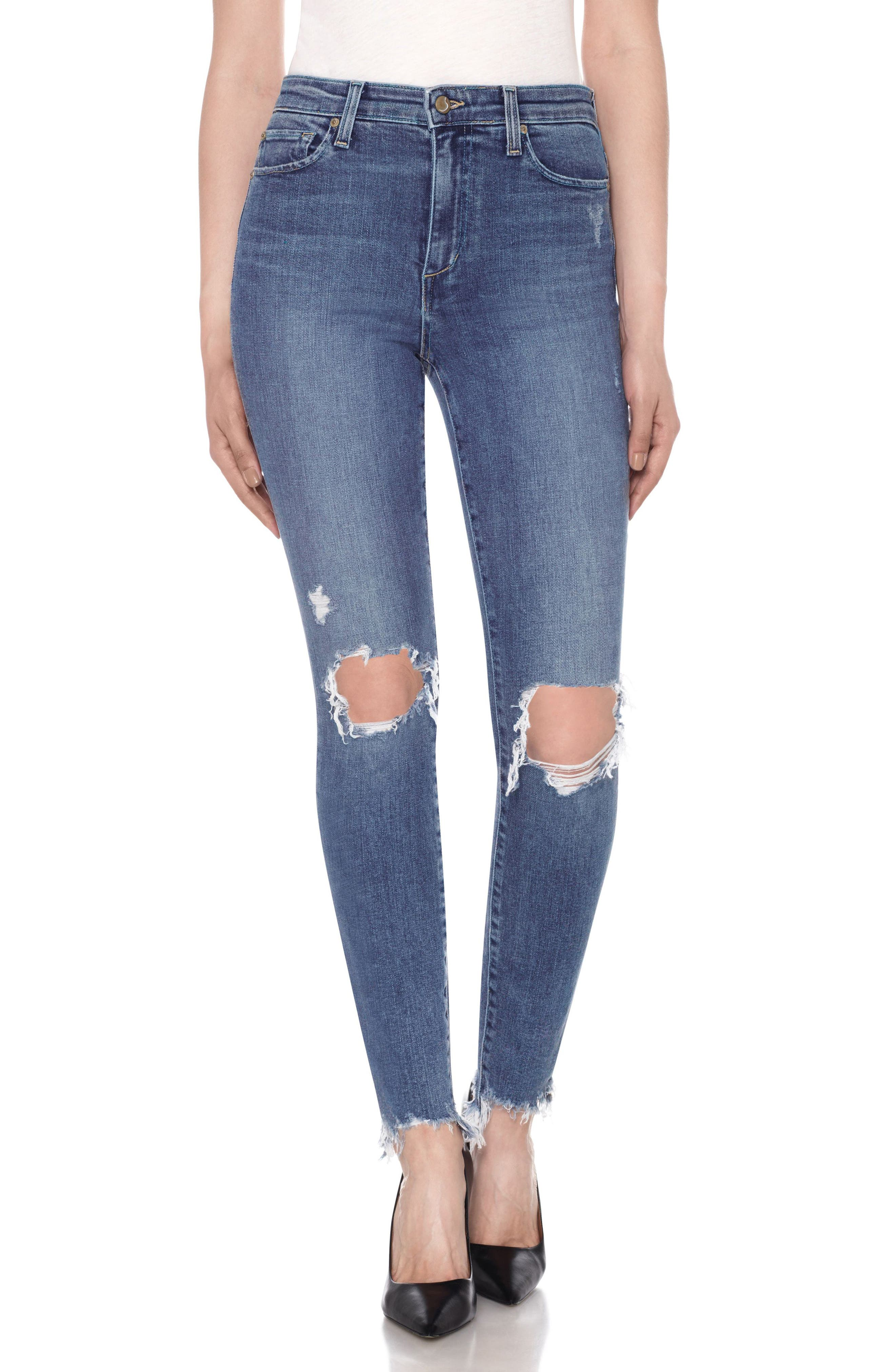 JOE'S Charlie Ankle Skinny Jeans, Main, color, 415