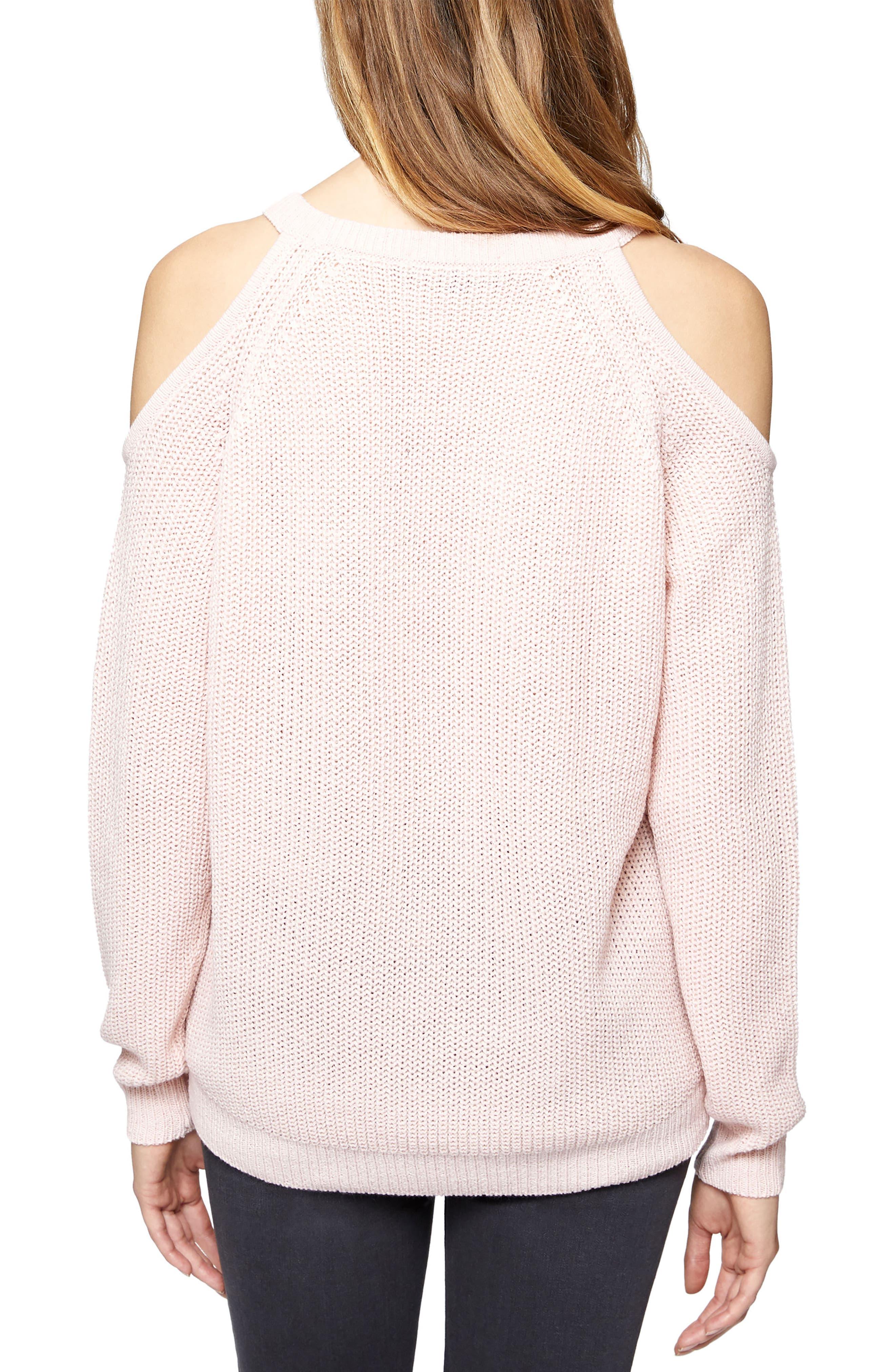 Riley Cold Shoulder Sweater,                             Alternate thumbnail 10, color,