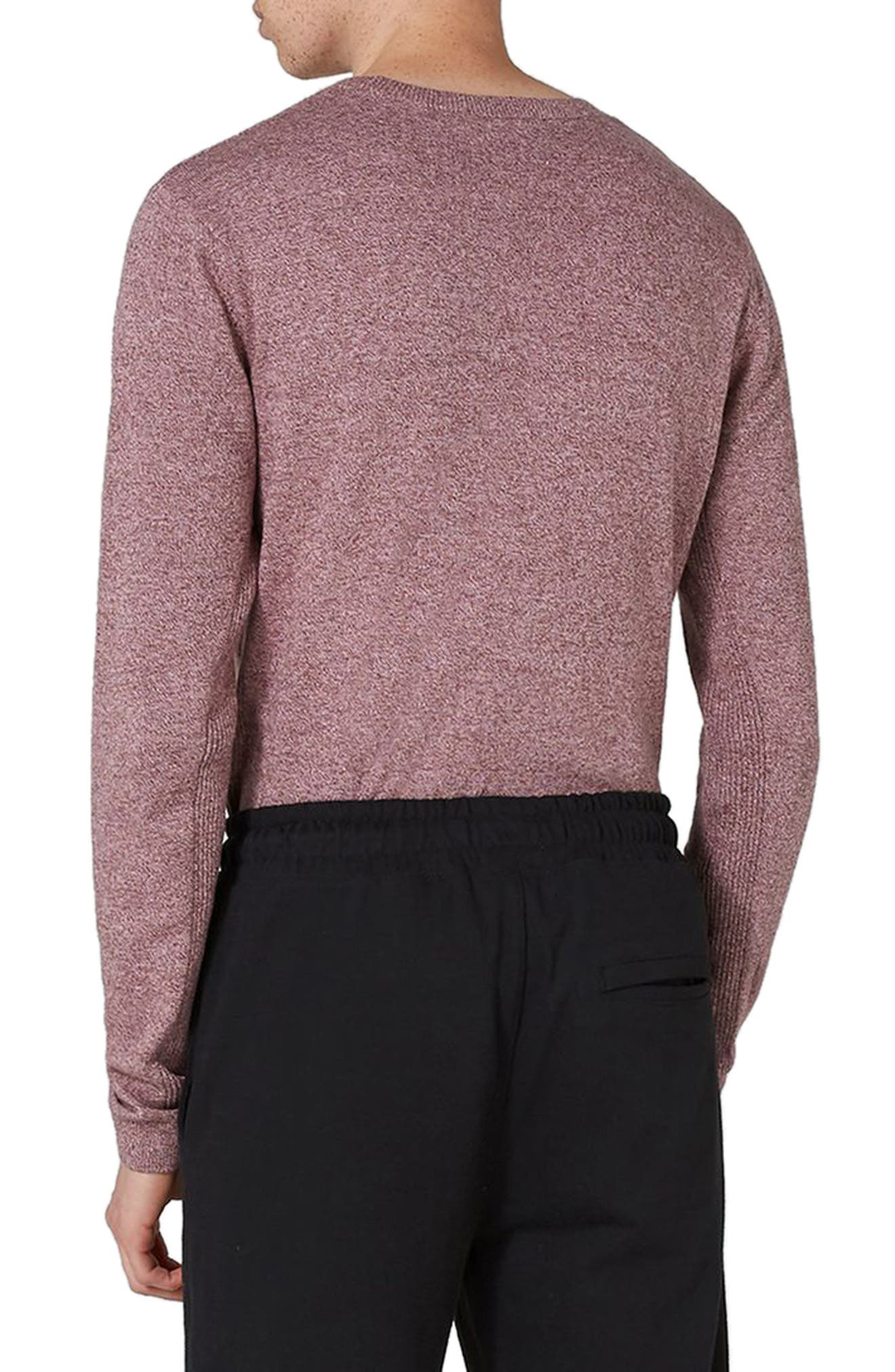 Side Ribbed Slim Fit Sweater,                             Alternate thumbnail 14, color,