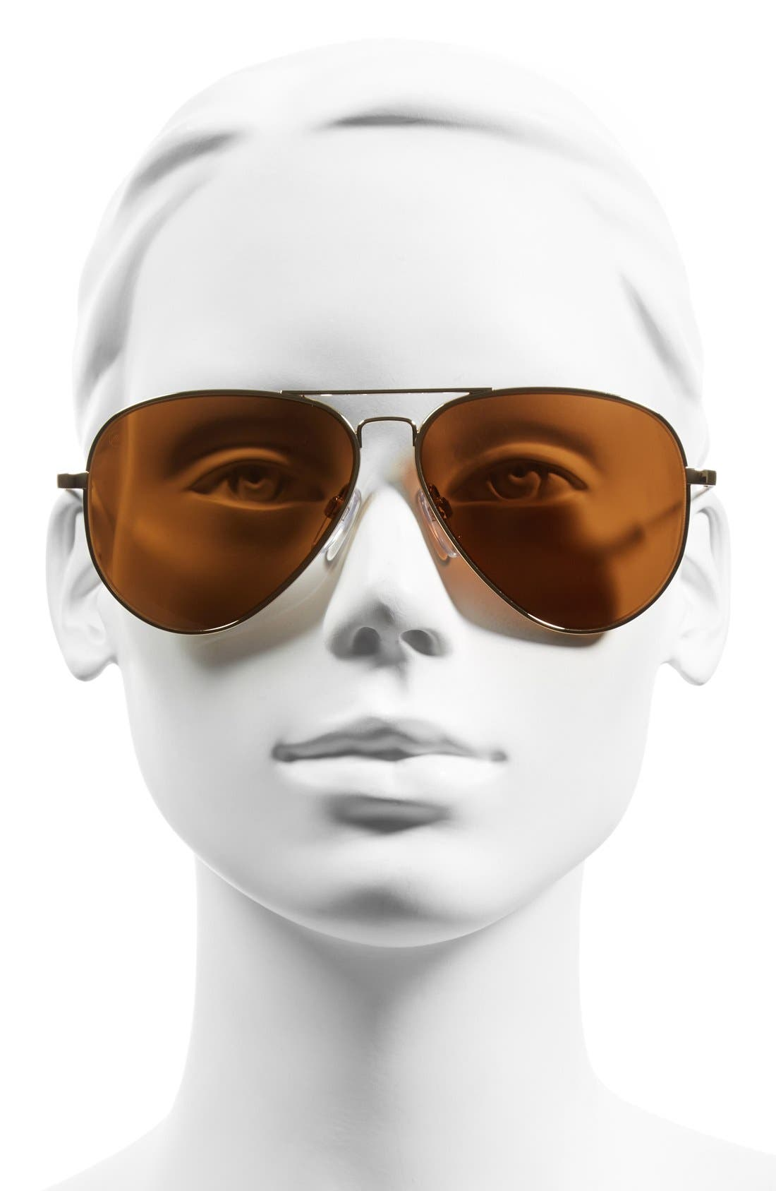 'AV1 XL' 62mm Aviator Sunglasses,                             Alternate thumbnail 2, color,                             GOLD/ BRONZE