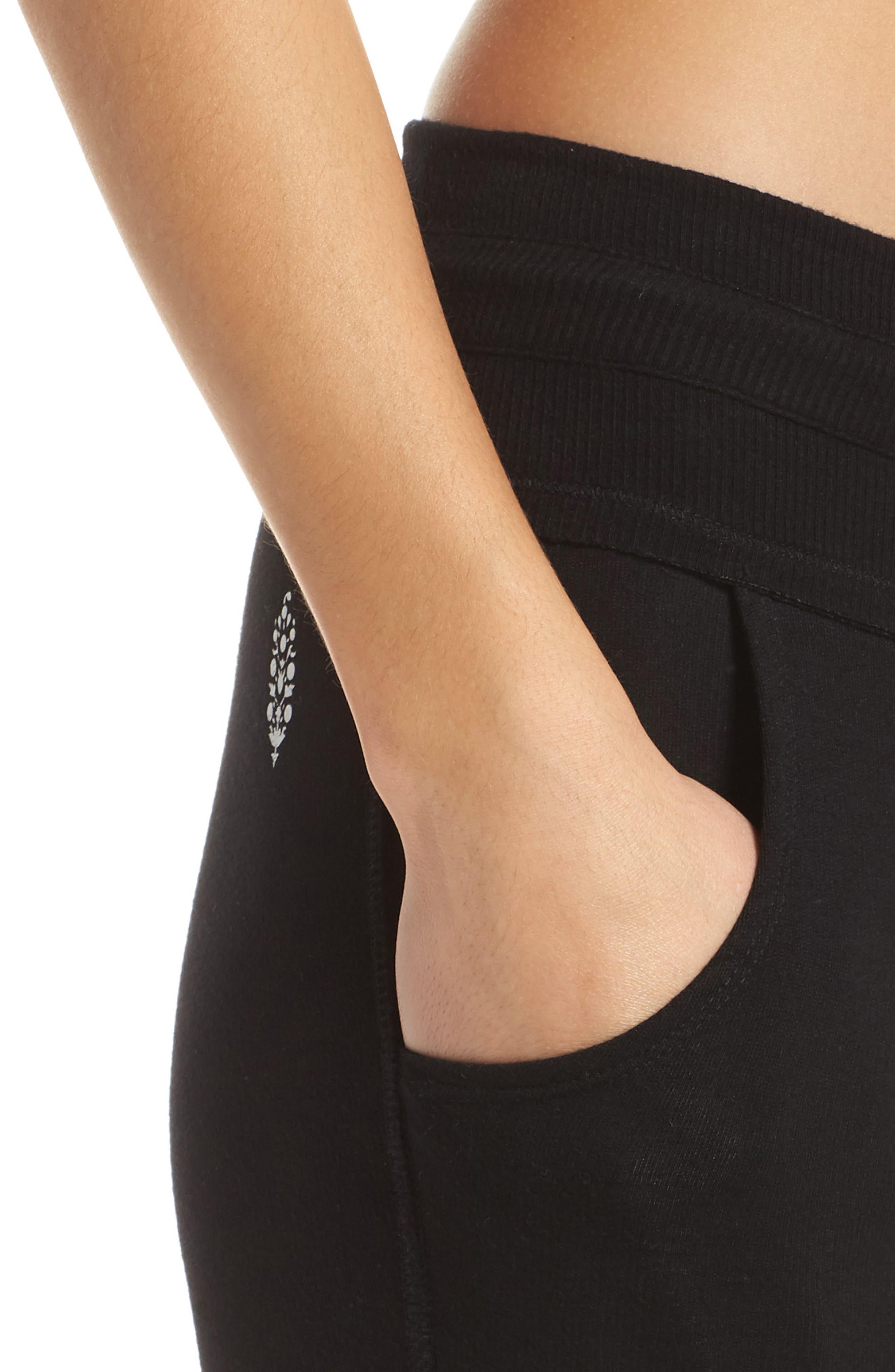 FP Movement Surya High Waist Leggings,                             Alternate thumbnail 4, color,                             BLACK
