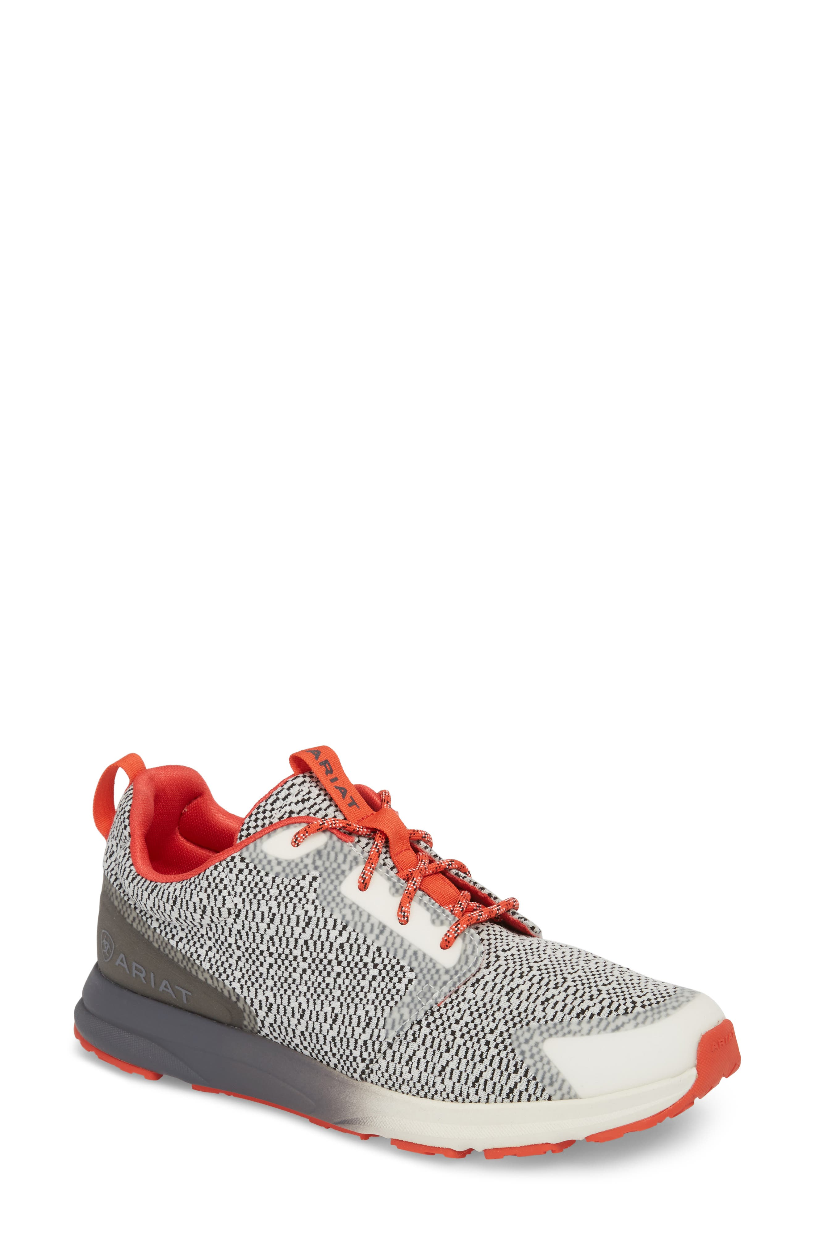 Fuse Print Sneaker,                             Main thumbnail 1, color,                             SALT AND PEPPER