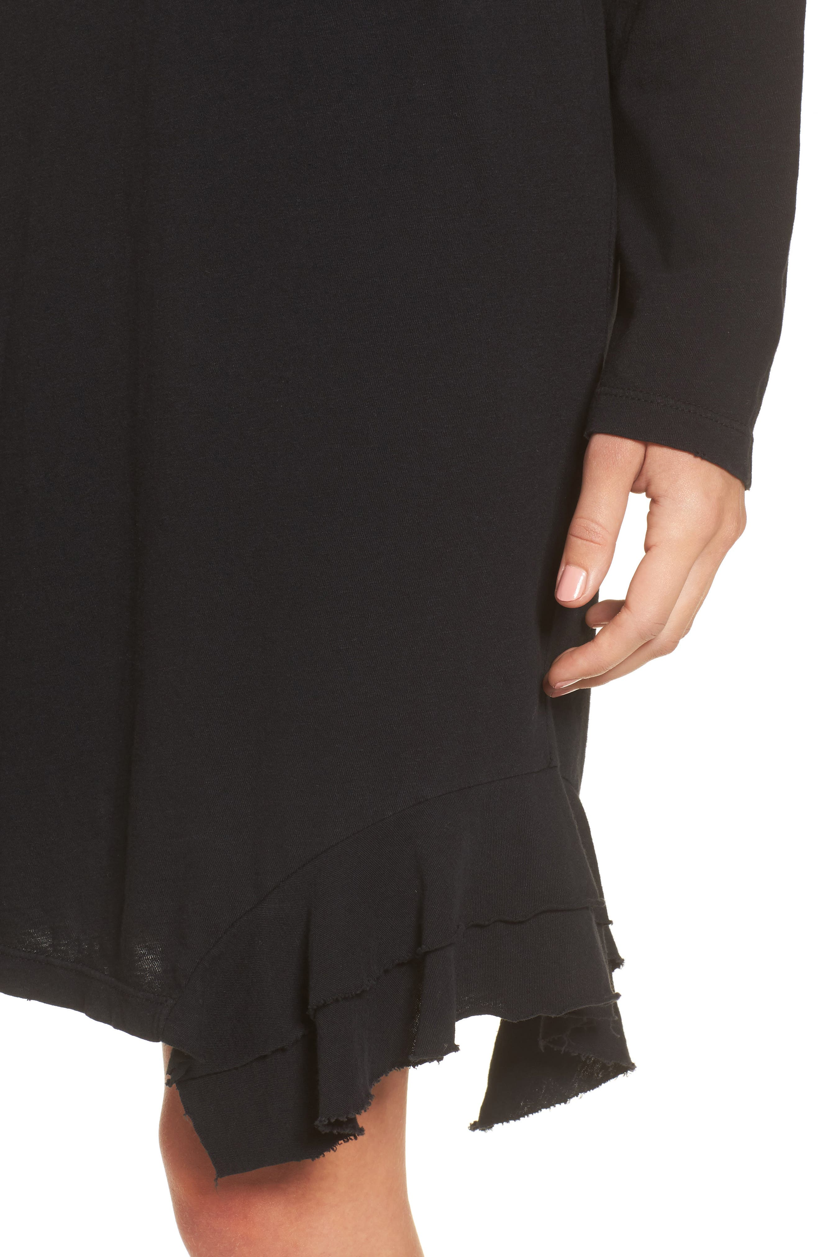 The Tier Long Sleeve Dress,                             Alternate thumbnail 4, color,                             008