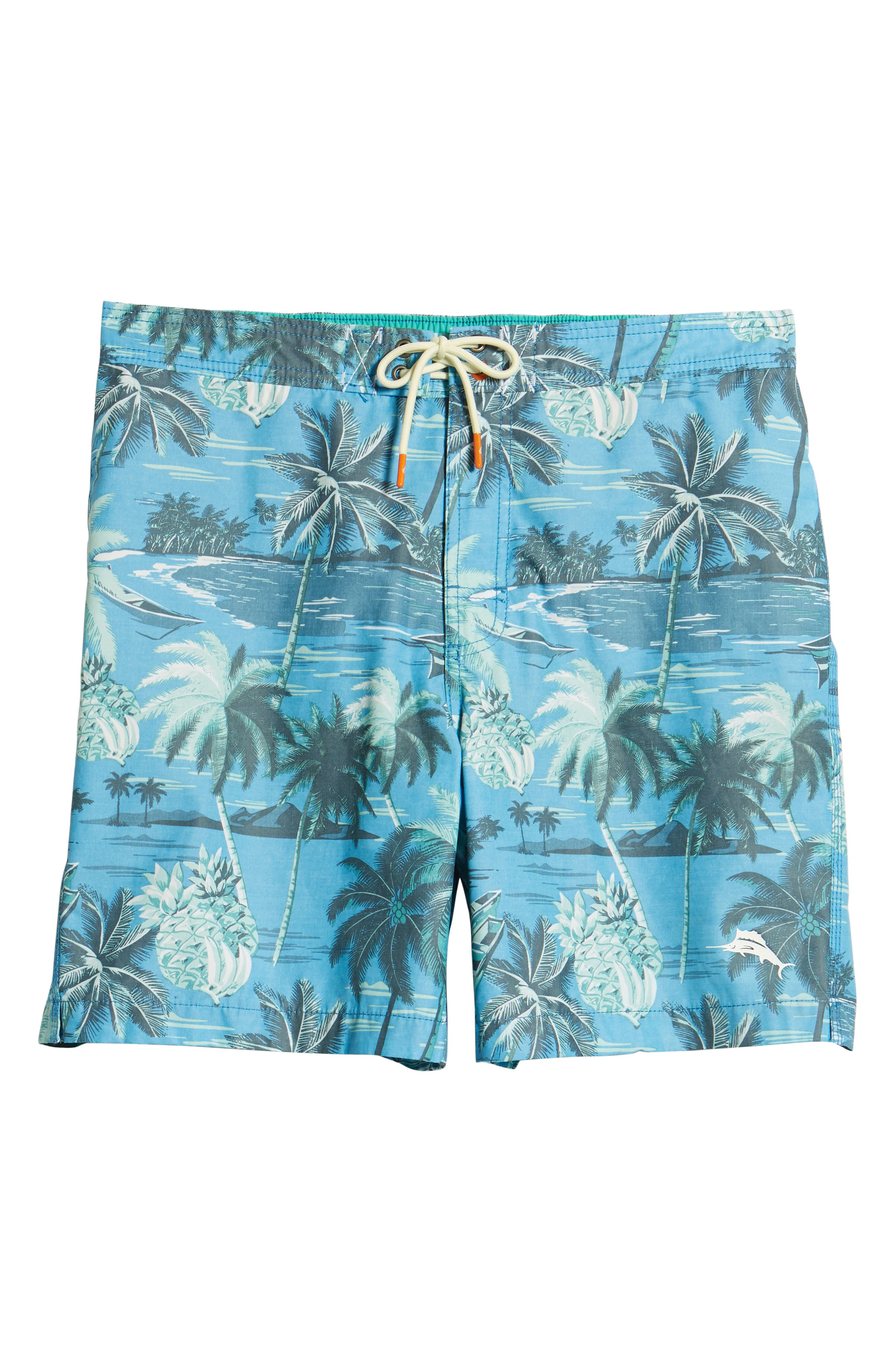 Baja Puerto Vallarta Palms Board Shorts,                             Alternate thumbnail 6, color,