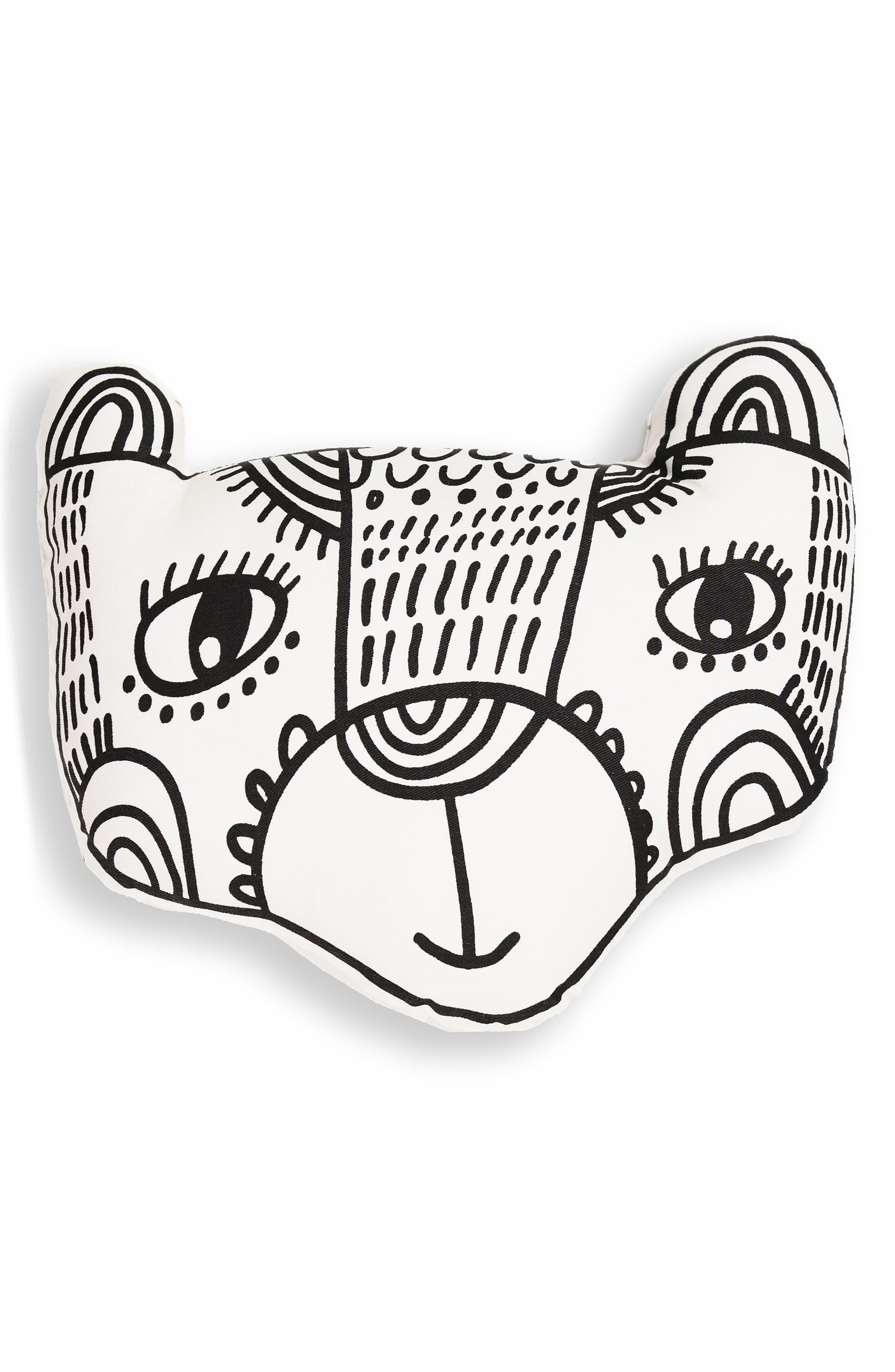 Bear Accent Pillow,                             Main thumbnail 1, color,                             001