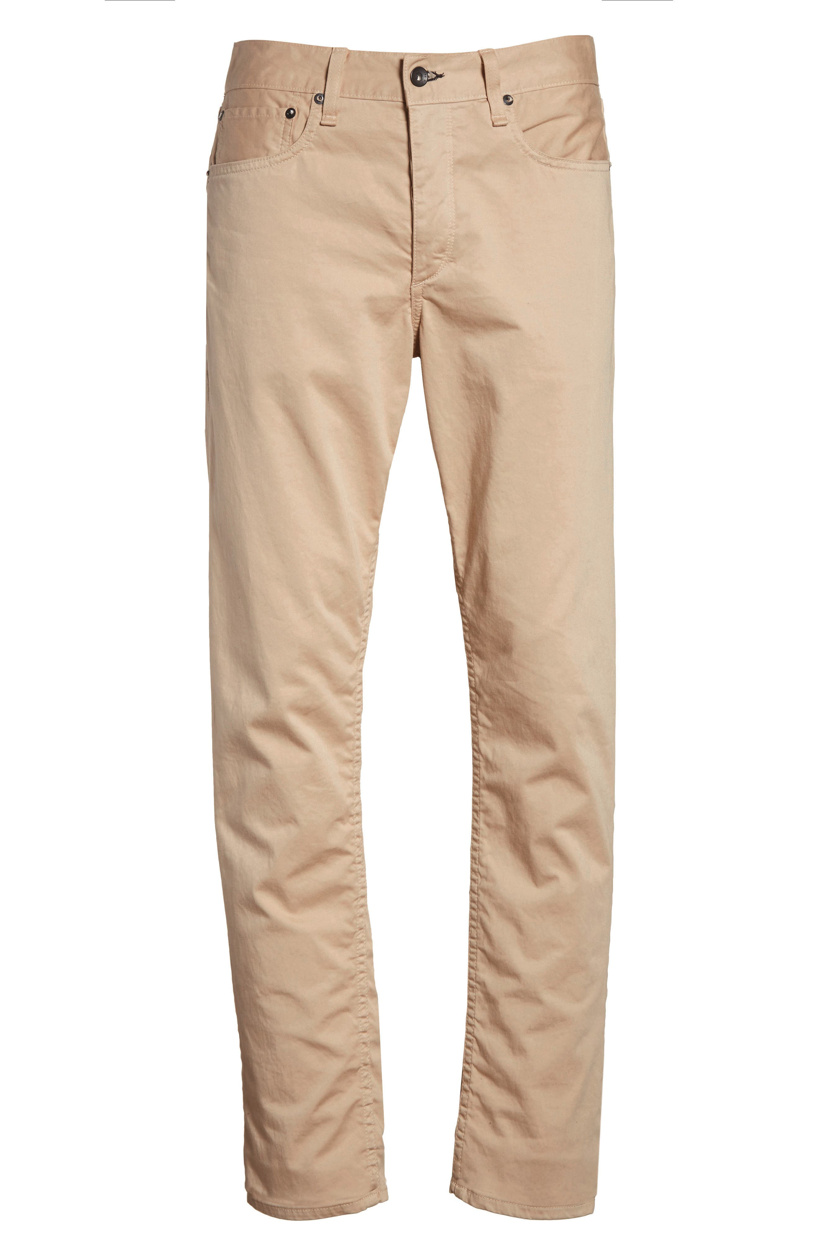 Fit 2 Five-Pocket Twill Pants,                             Alternate thumbnail 6, color,                             BEIGE