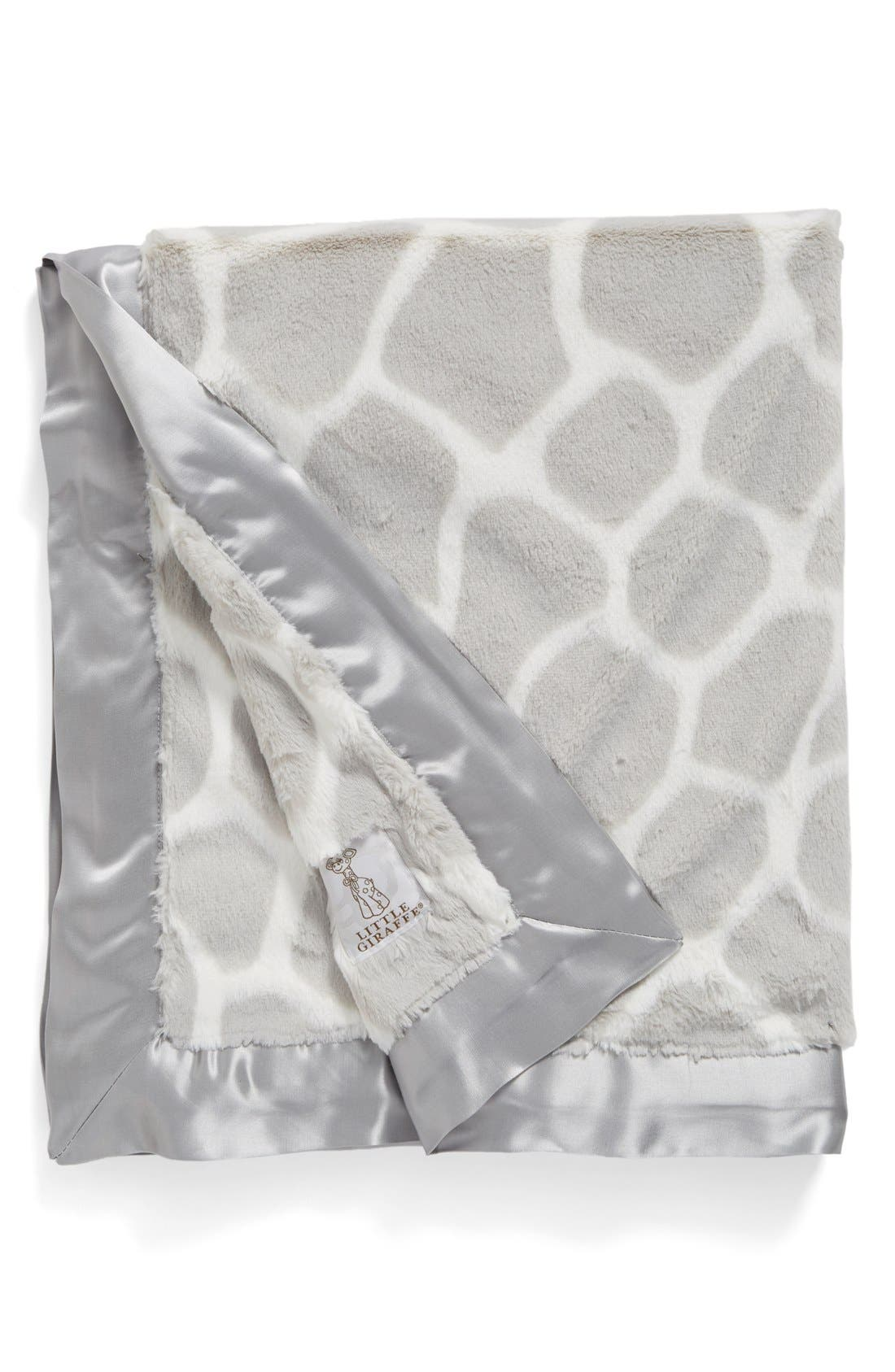 'Luxe Giraffe Print<sup>™</sup>' Blanket,                             Main thumbnail 1, color,                             SILVER