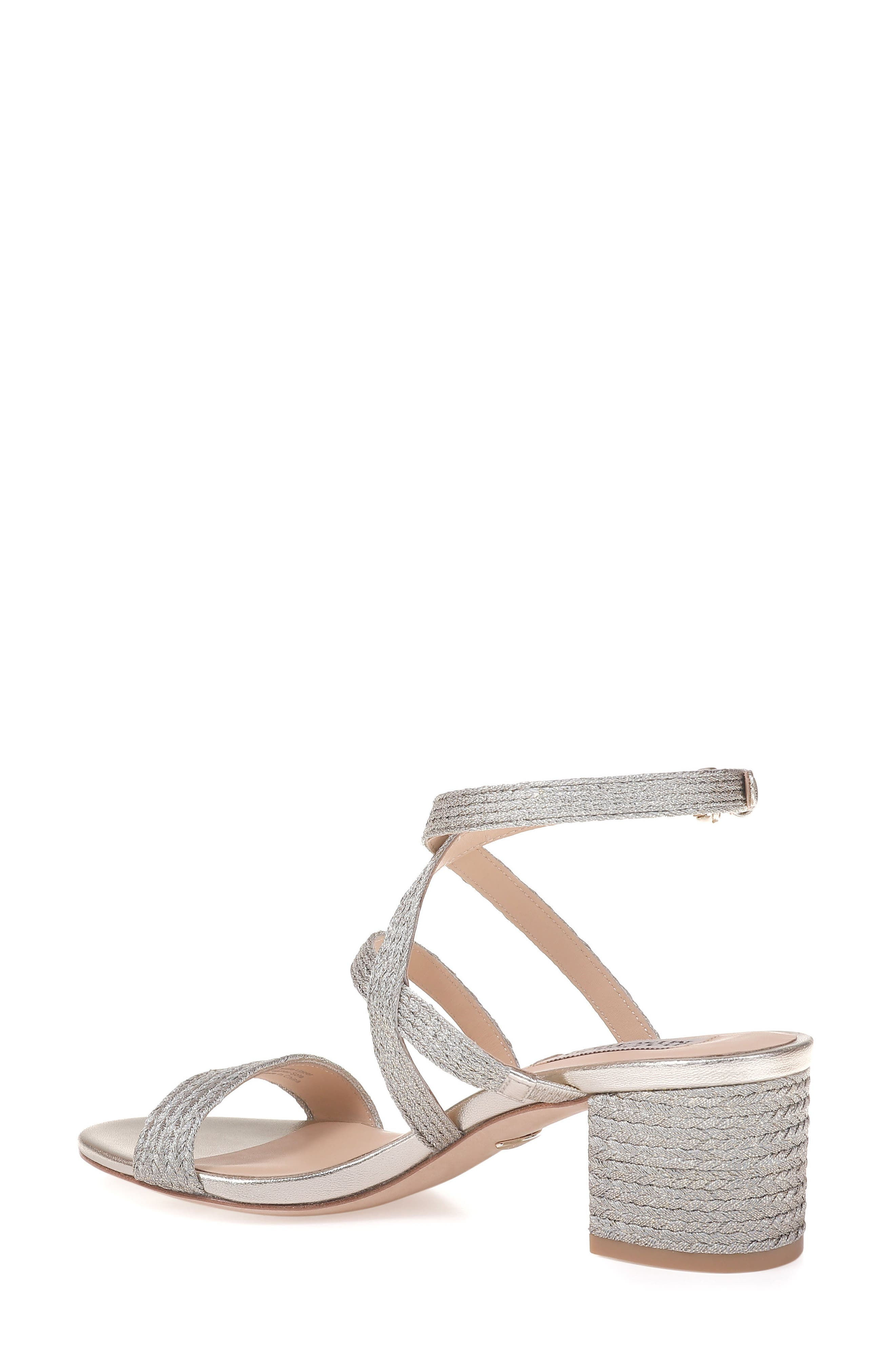 Storm Block Heel Sandal,                             Alternate thumbnail 2, color,                             PLATINO FABRIC