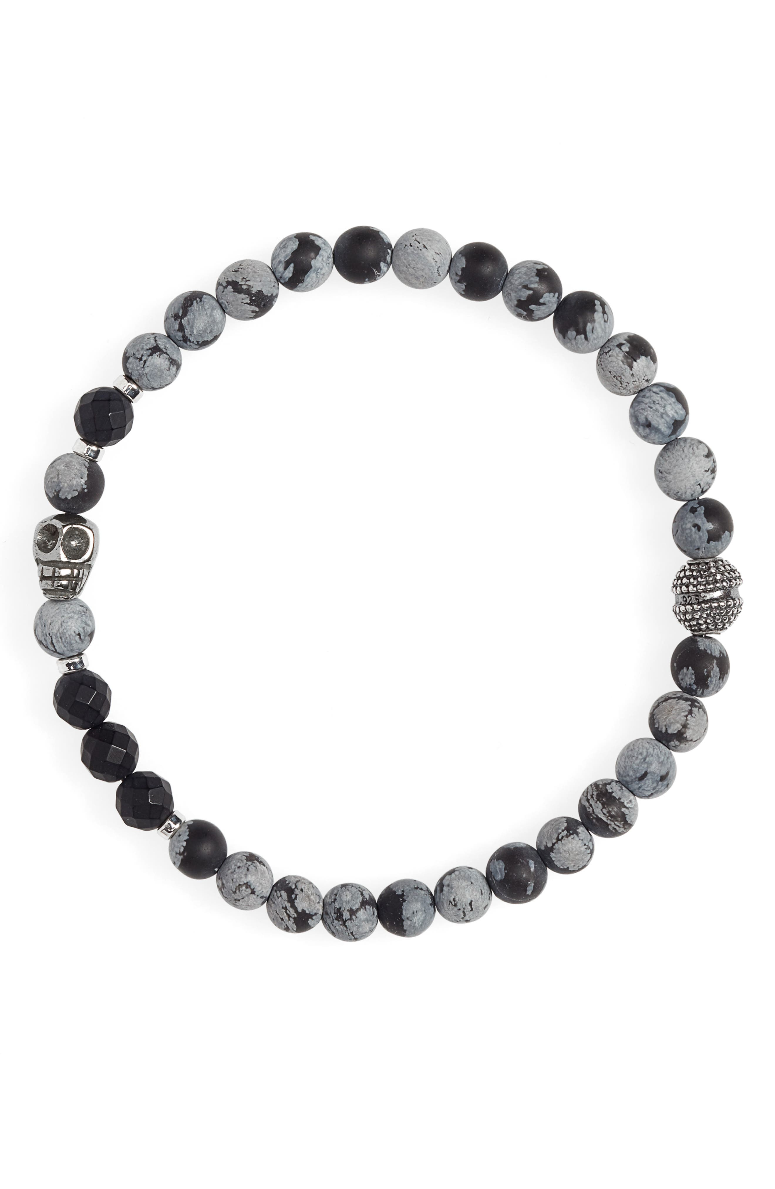 JONAS STUDIO Stone Bead Bracelet in Grey