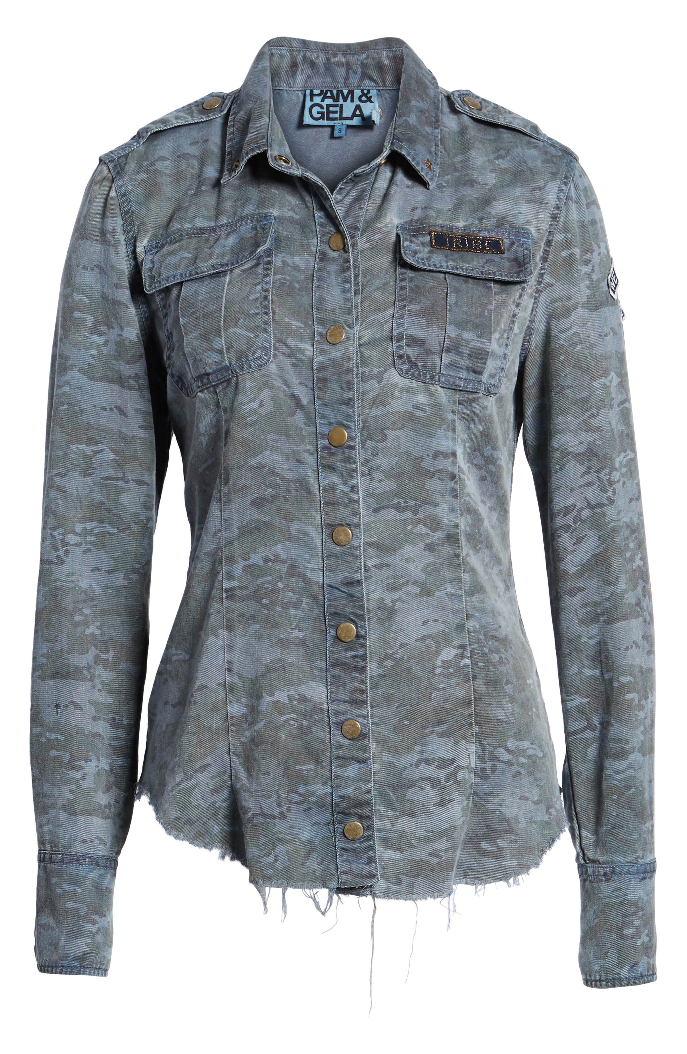 Camo Shirt,                             Alternate thumbnail 6, color,