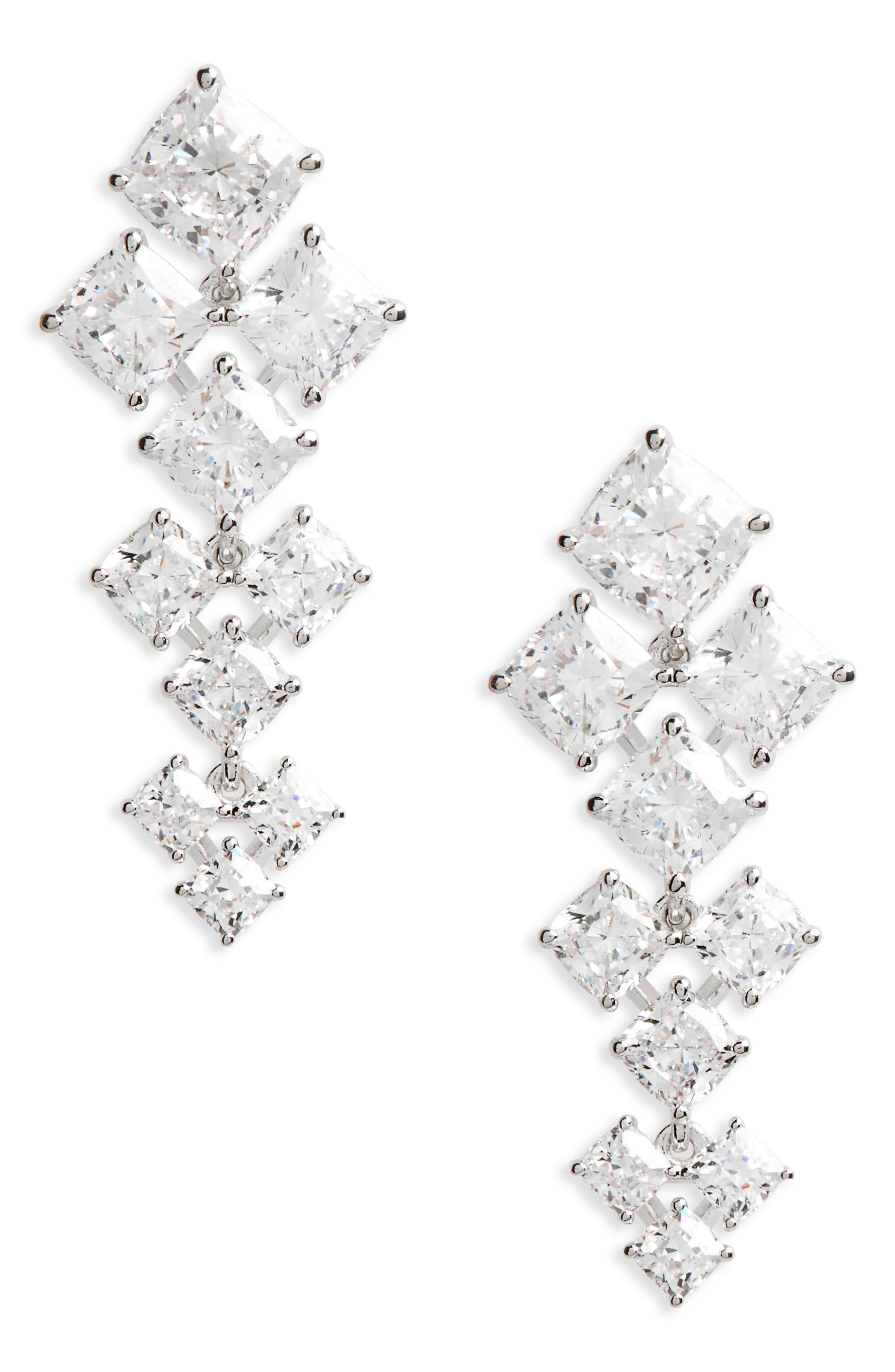 Vera Crystal Drop Earrings,                             Main thumbnail 1, color,