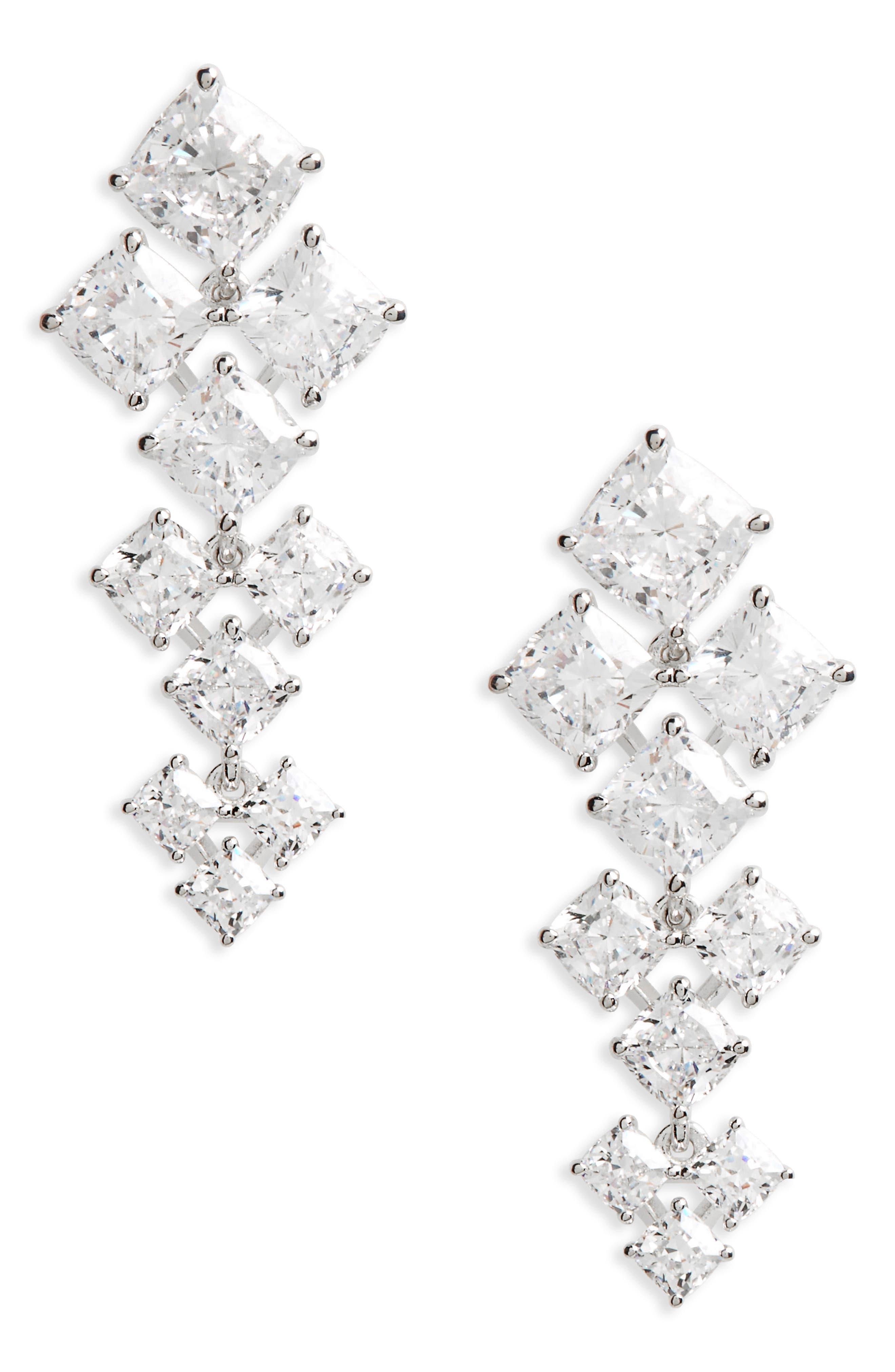 Vera Crystal Drop Earrings,                         Main,                         color,