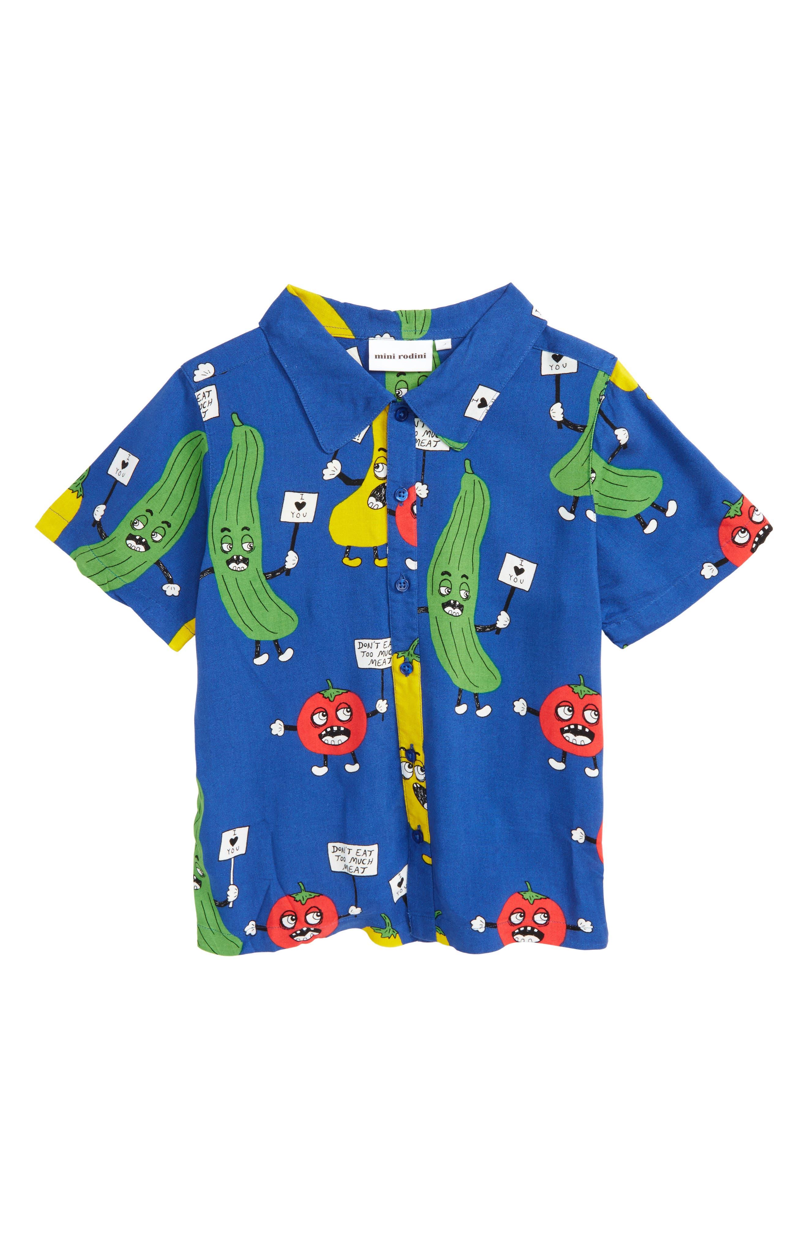 Veggie Print Woven Shirt,                             Main thumbnail 1, color,                             400
