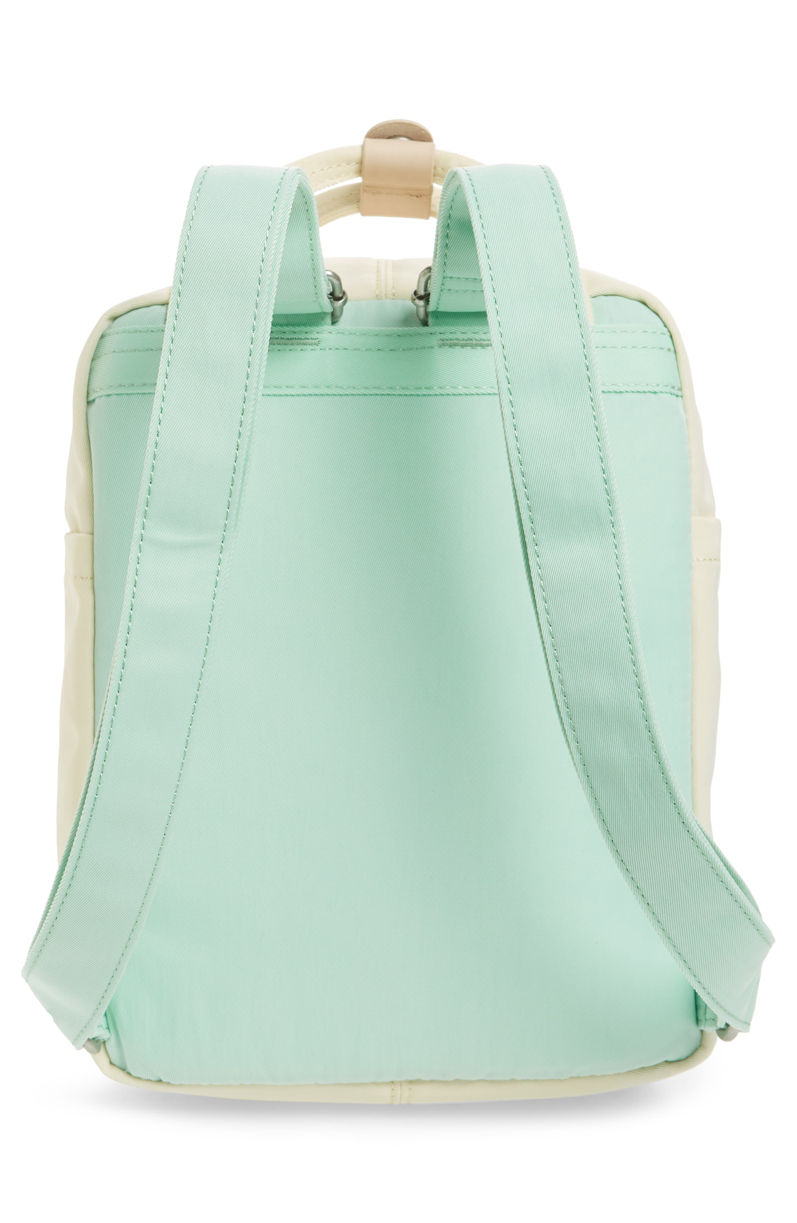 Mini Macaroon Colorblock Water Resistant Backpack,                             Alternate thumbnail 3, color,                             SODA/ CREAM