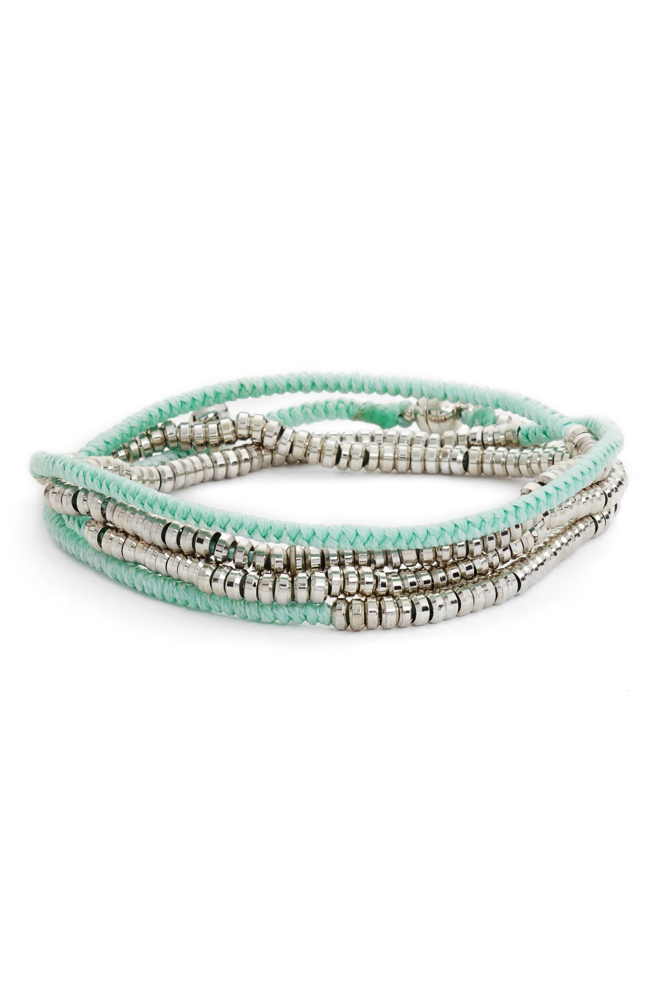 Heishi Wrap Bracelet,                             Main thumbnail 3, color,