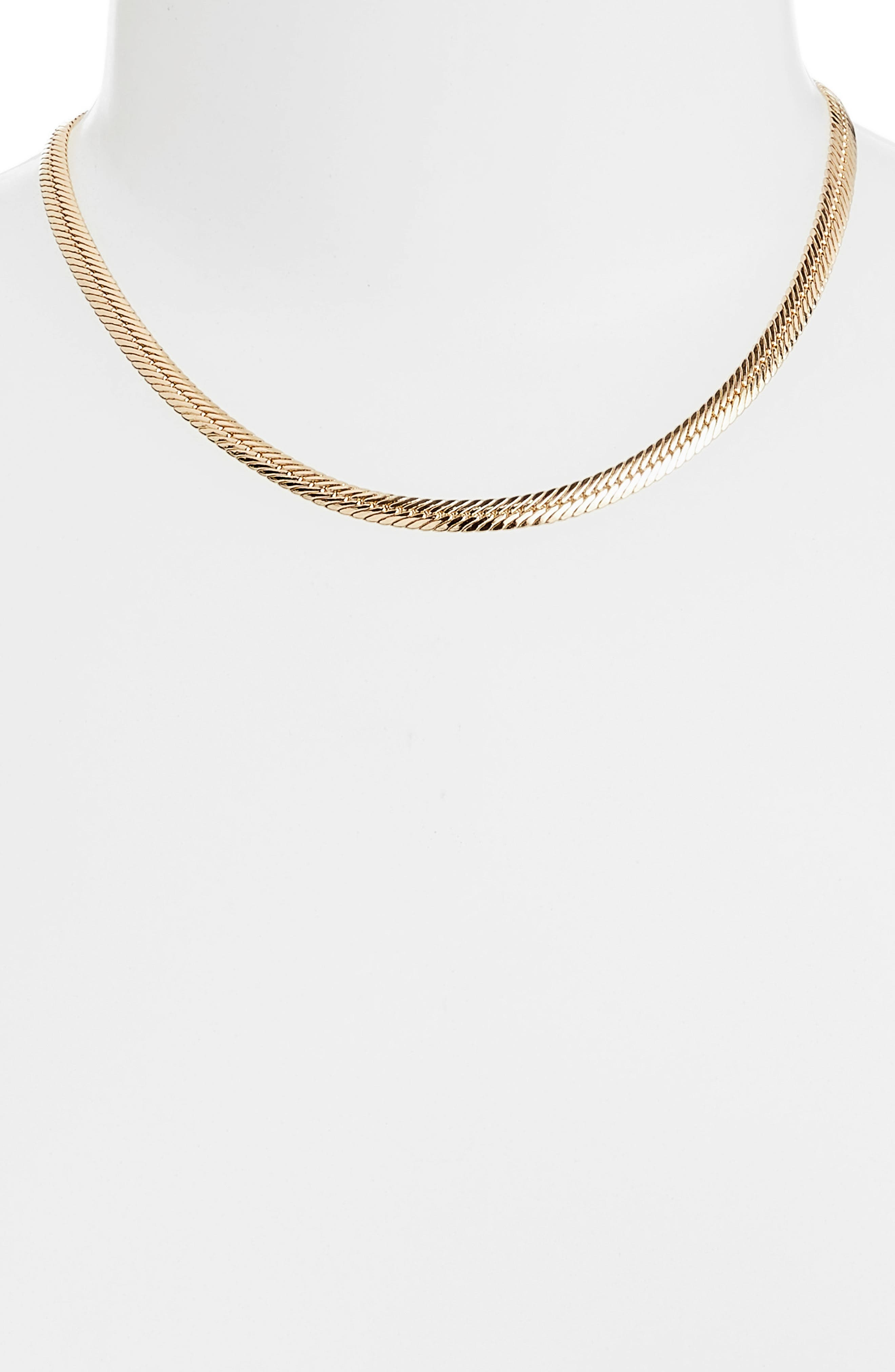 2-in-1 Snake Chain Lariat Necklace,                             Alternate thumbnail 2, color,                             GOLD
