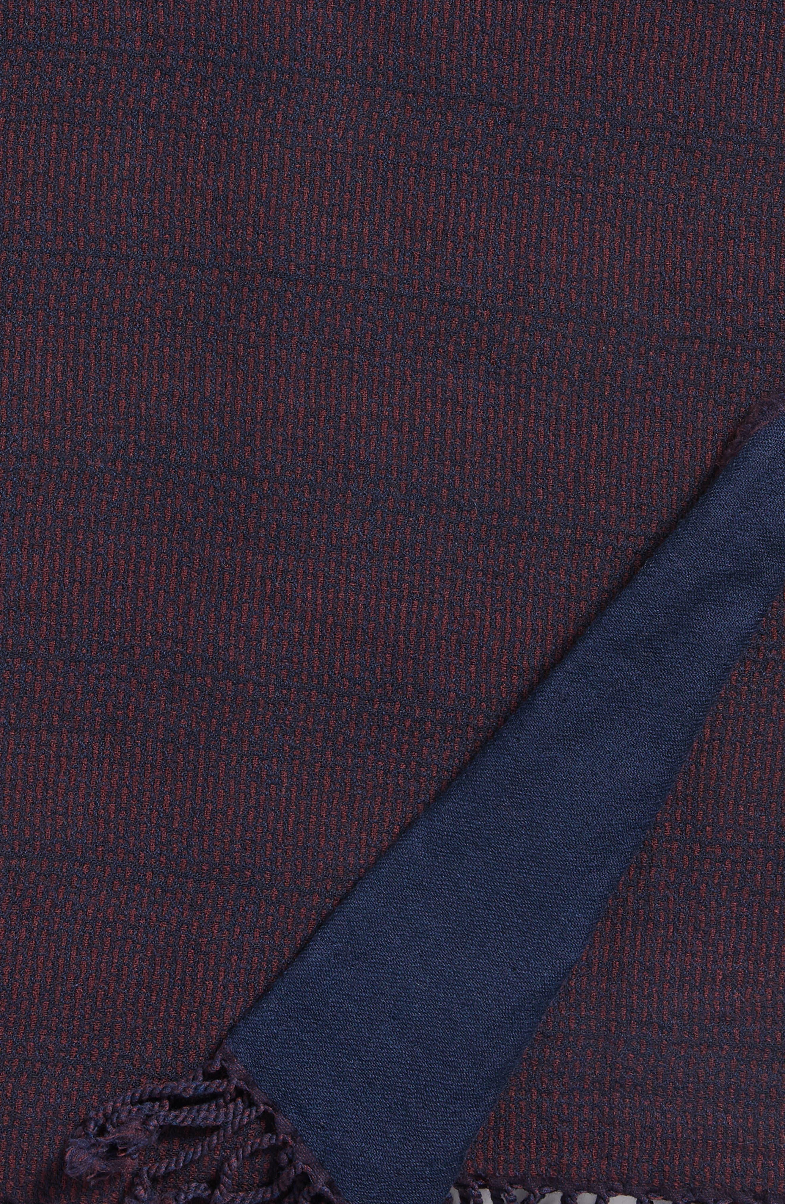 Stipple Stripe Double Face Merino Wool Throw,                             Alternate thumbnail 2, color,                             STIPPLE STRIPE