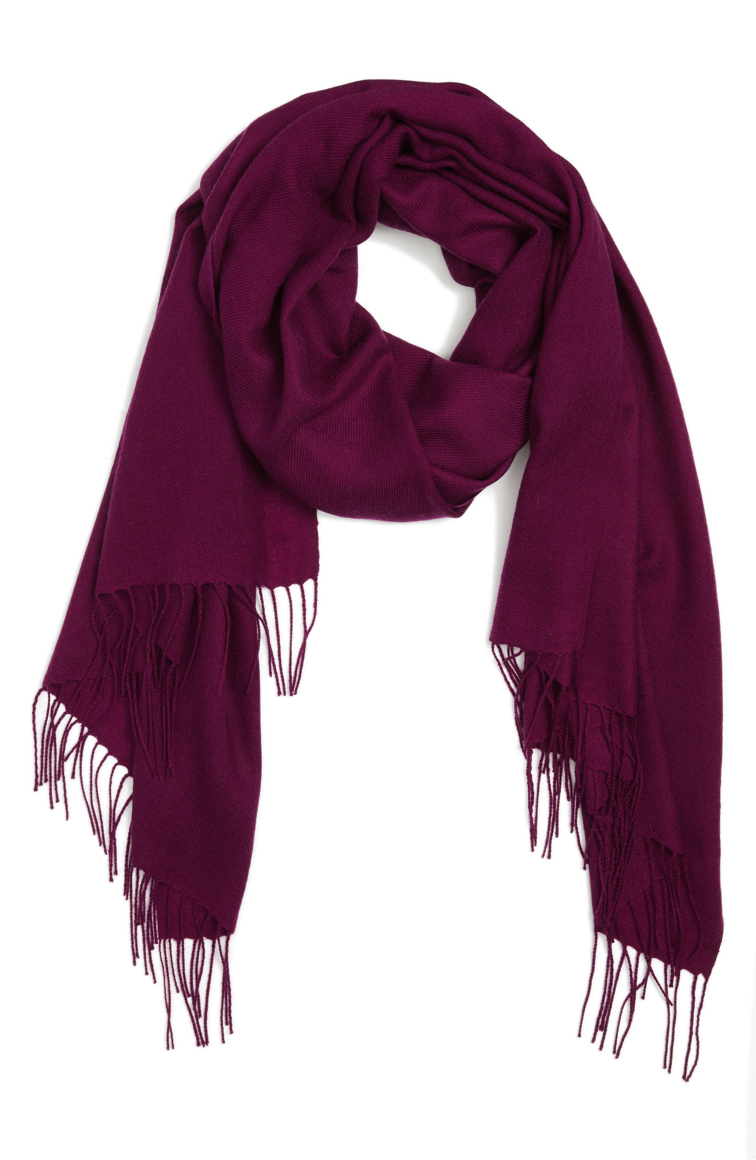 Tissue Weight Wool & Cashmere Scarf,                             Alternate thumbnail 116, color,
