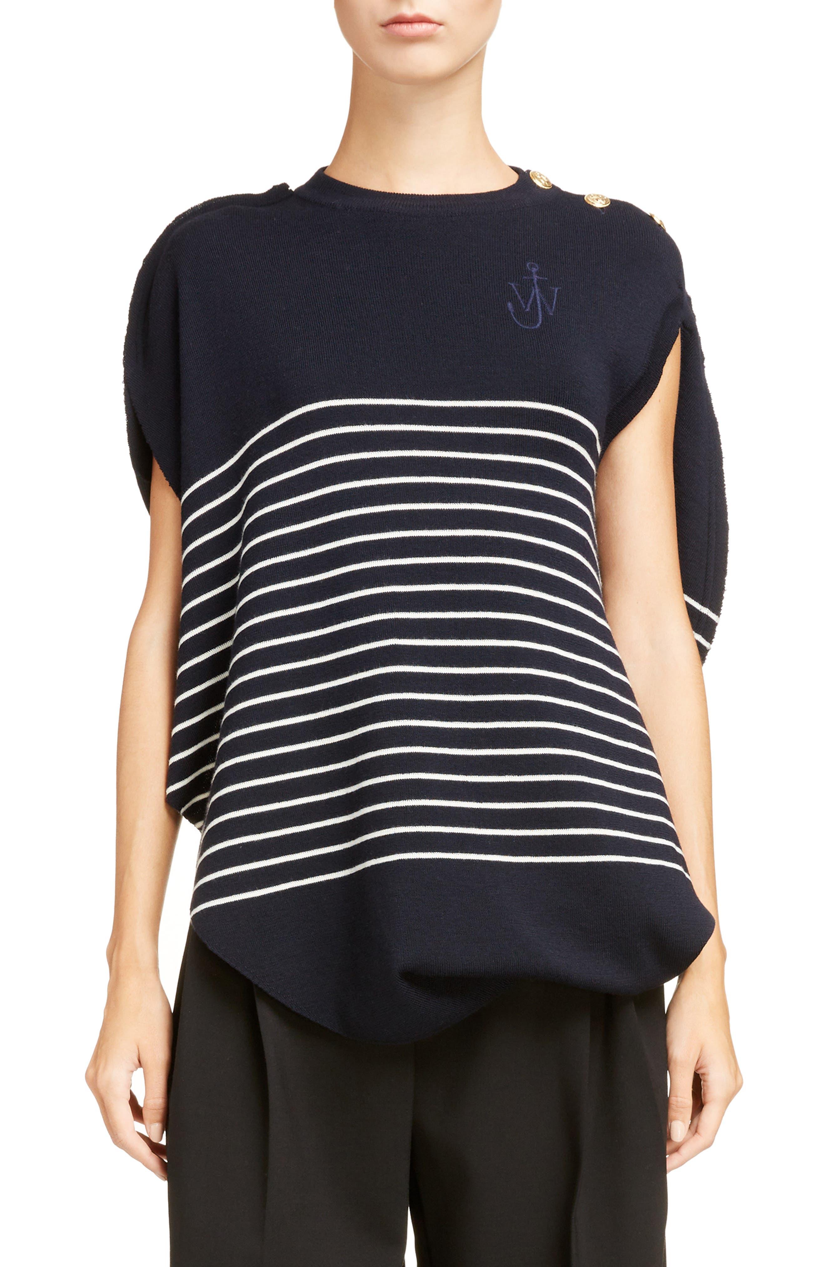 Circular Marinière Knit Top,                         Main,                         color, 400