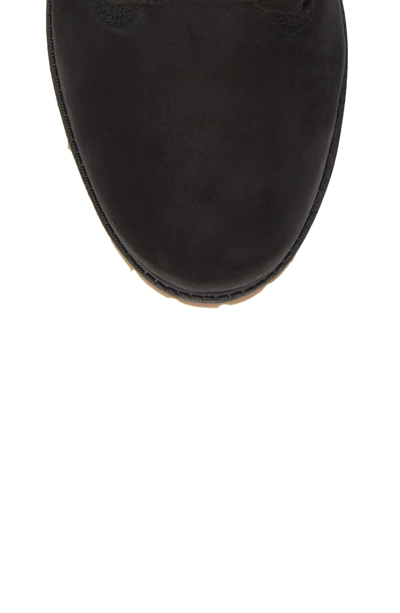 TIMBERLAND,                             Level 0 Super Boot,                             Alternate thumbnail 5, color,                             BLACK LEATHER