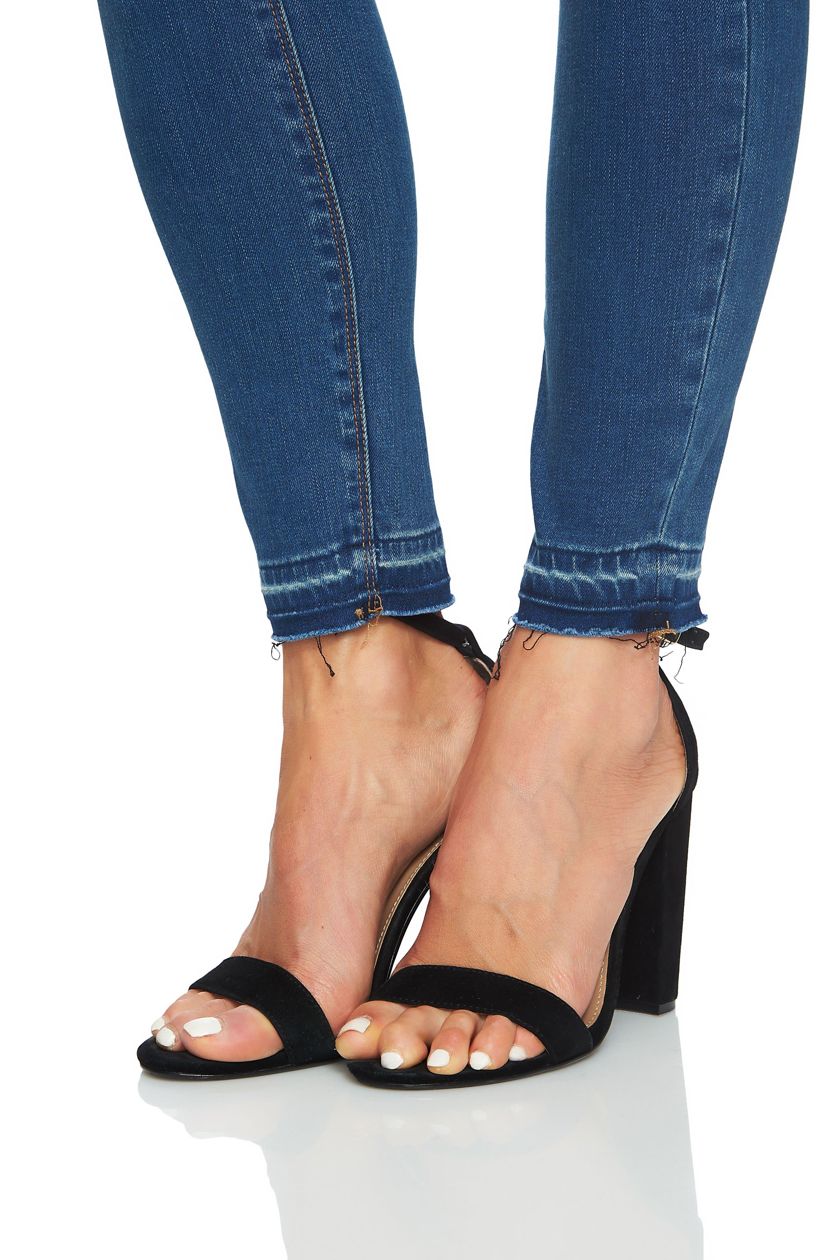 Ankle Skinny Jeans,                             Alternate thumbnail 4, color,