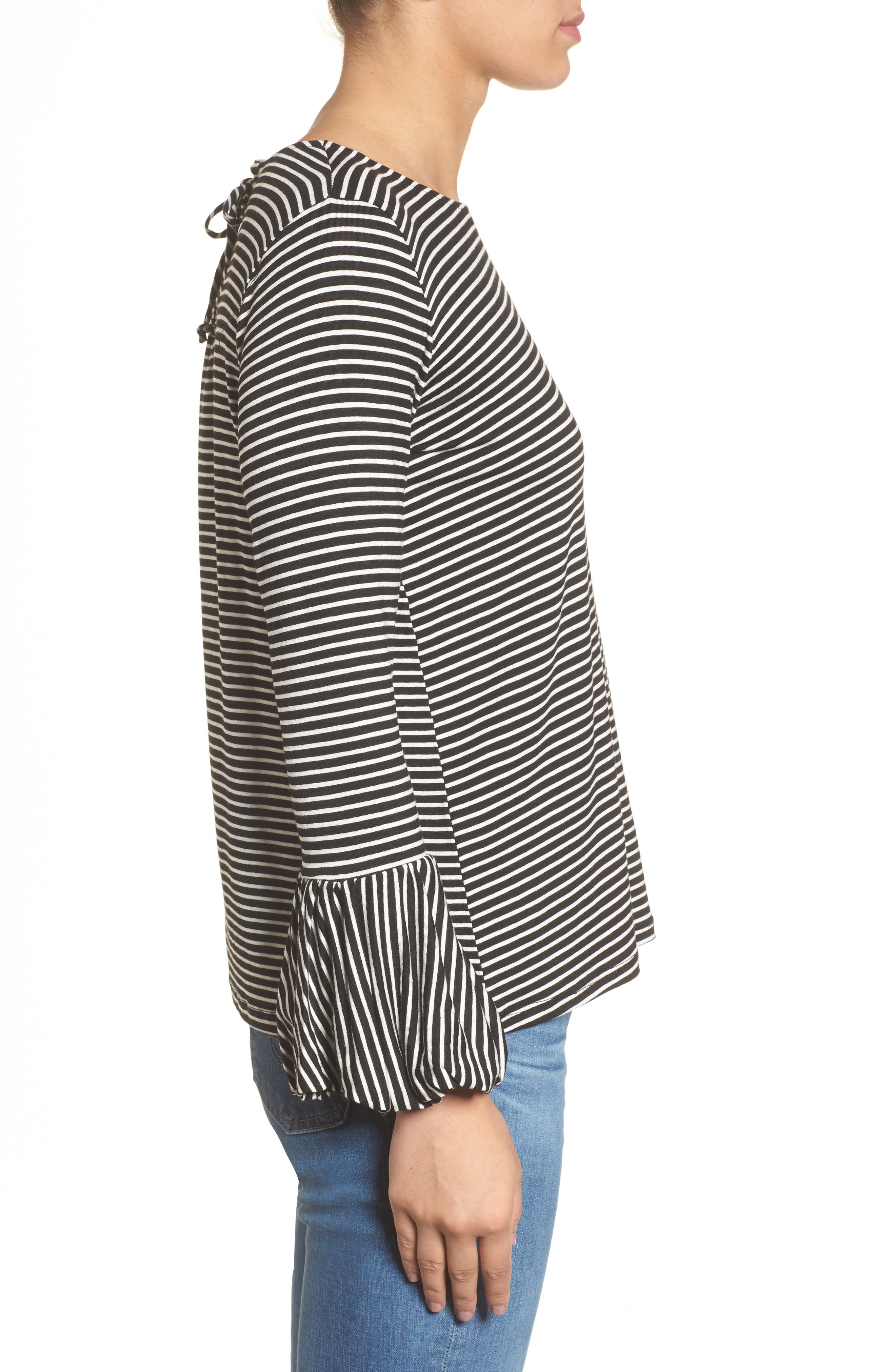 Bell Sleeve Top,                             Alternate thumbnail 3, color,                             003