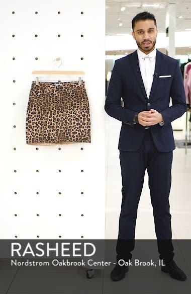 Cheetah Print Raw Edge Miniskirt, sales video thumbnail